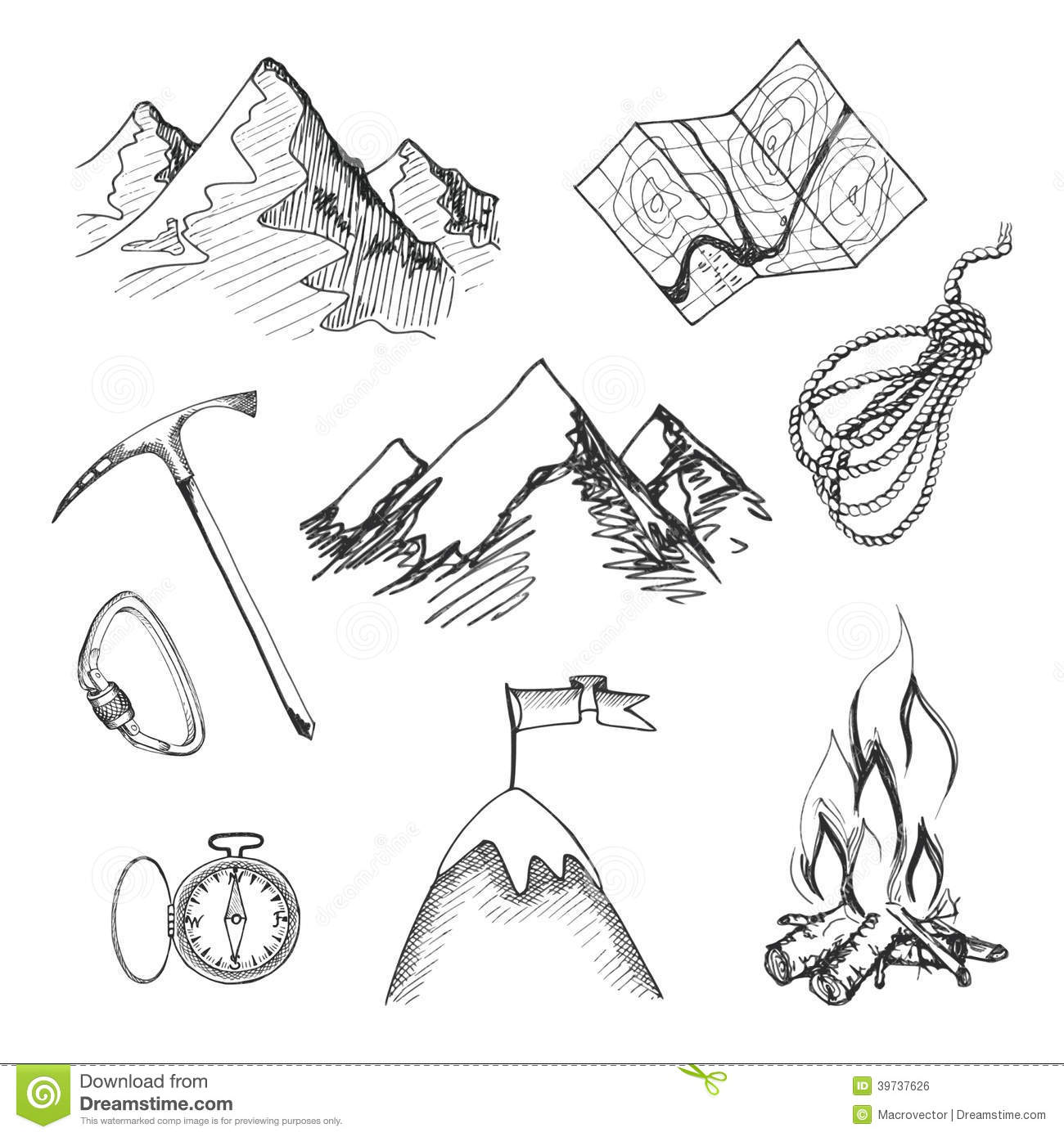 how to draw a mountains card