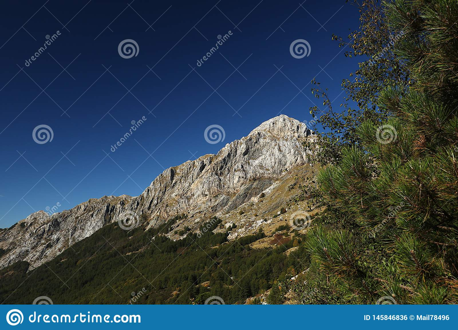 Alpi Apuane, Massa Carrara, Tuscany, Italy. The top of the Pizzo