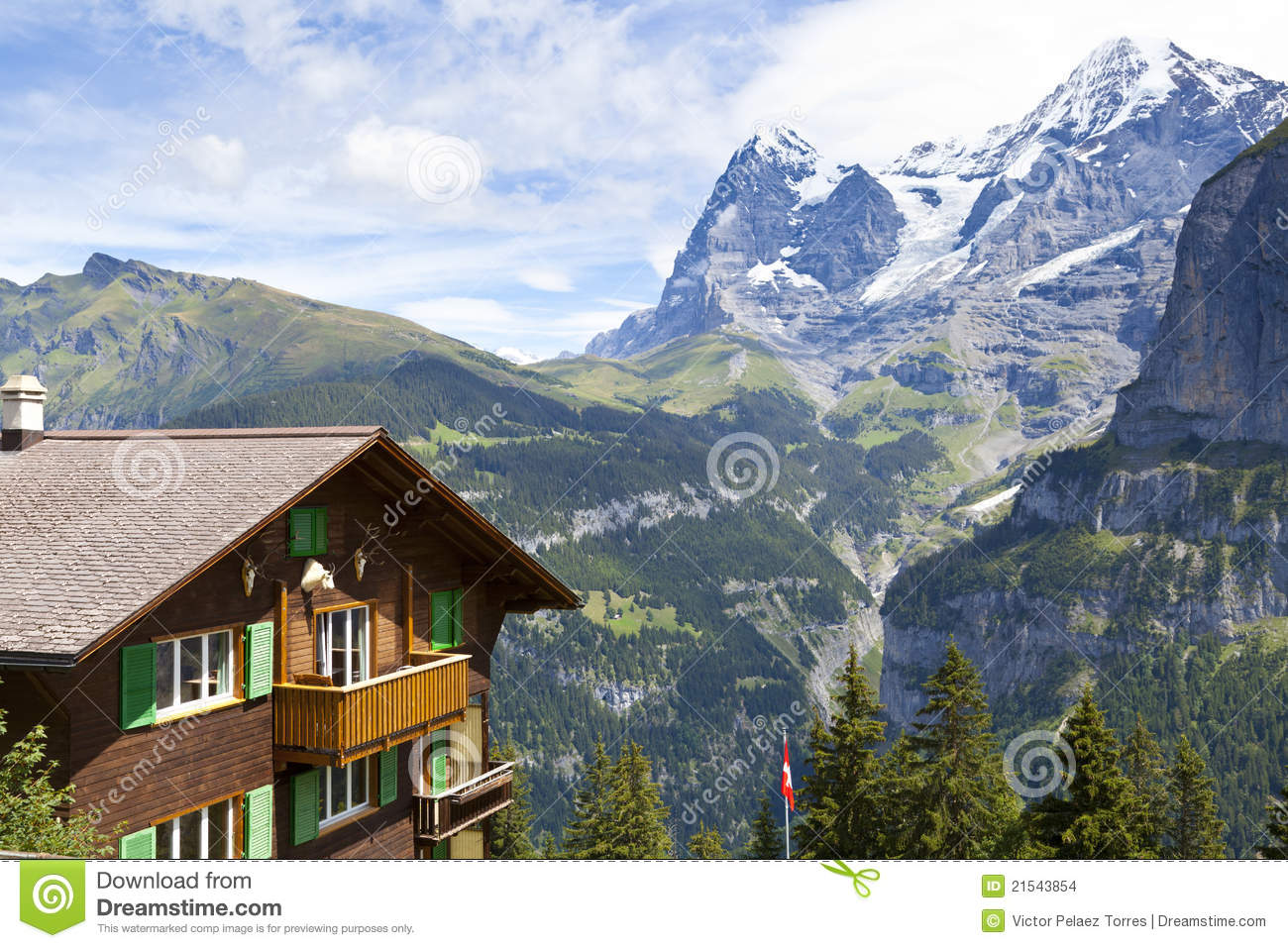 Mountain Cottage Stock Images Image 21543854