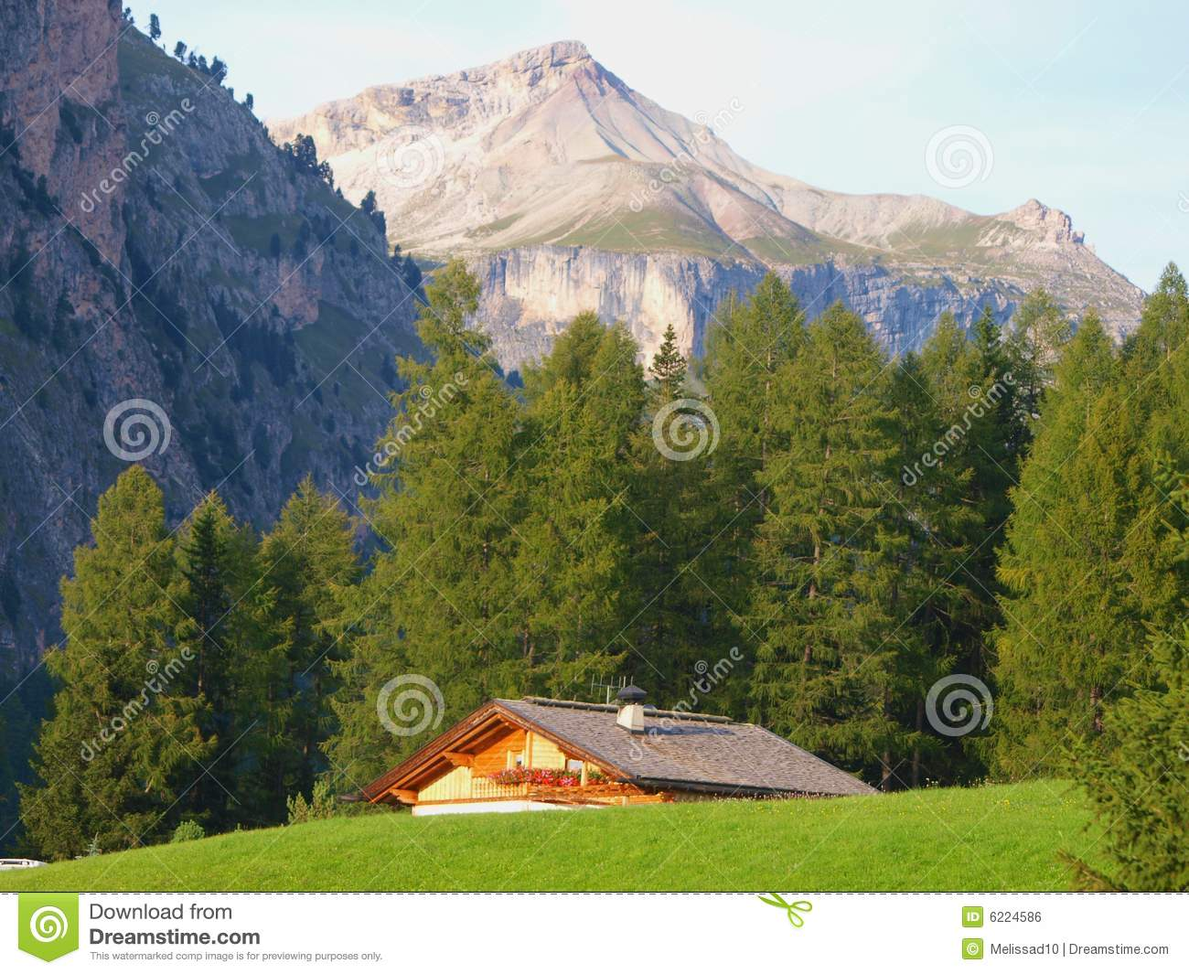 Mountain cottage royalty free stock image image 6224586 for Cottage in the mountains