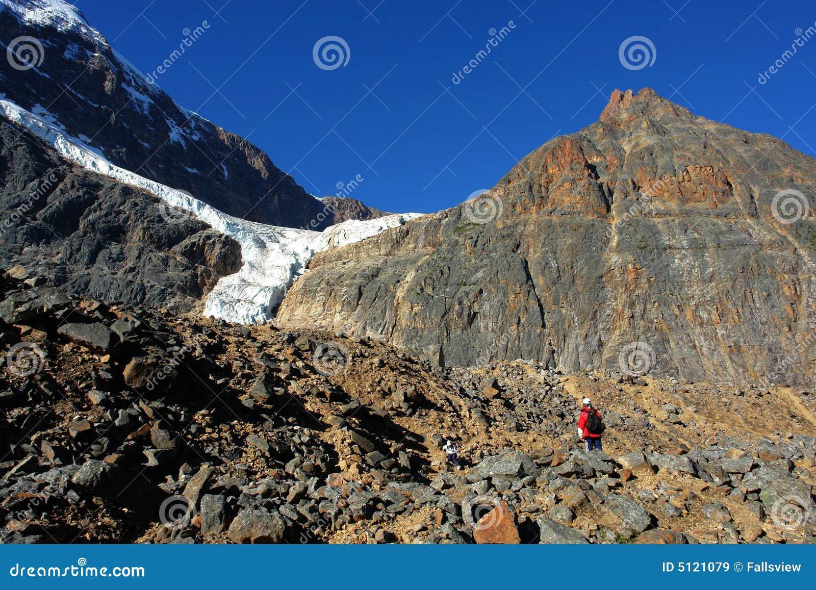 Mountain edith and glacier