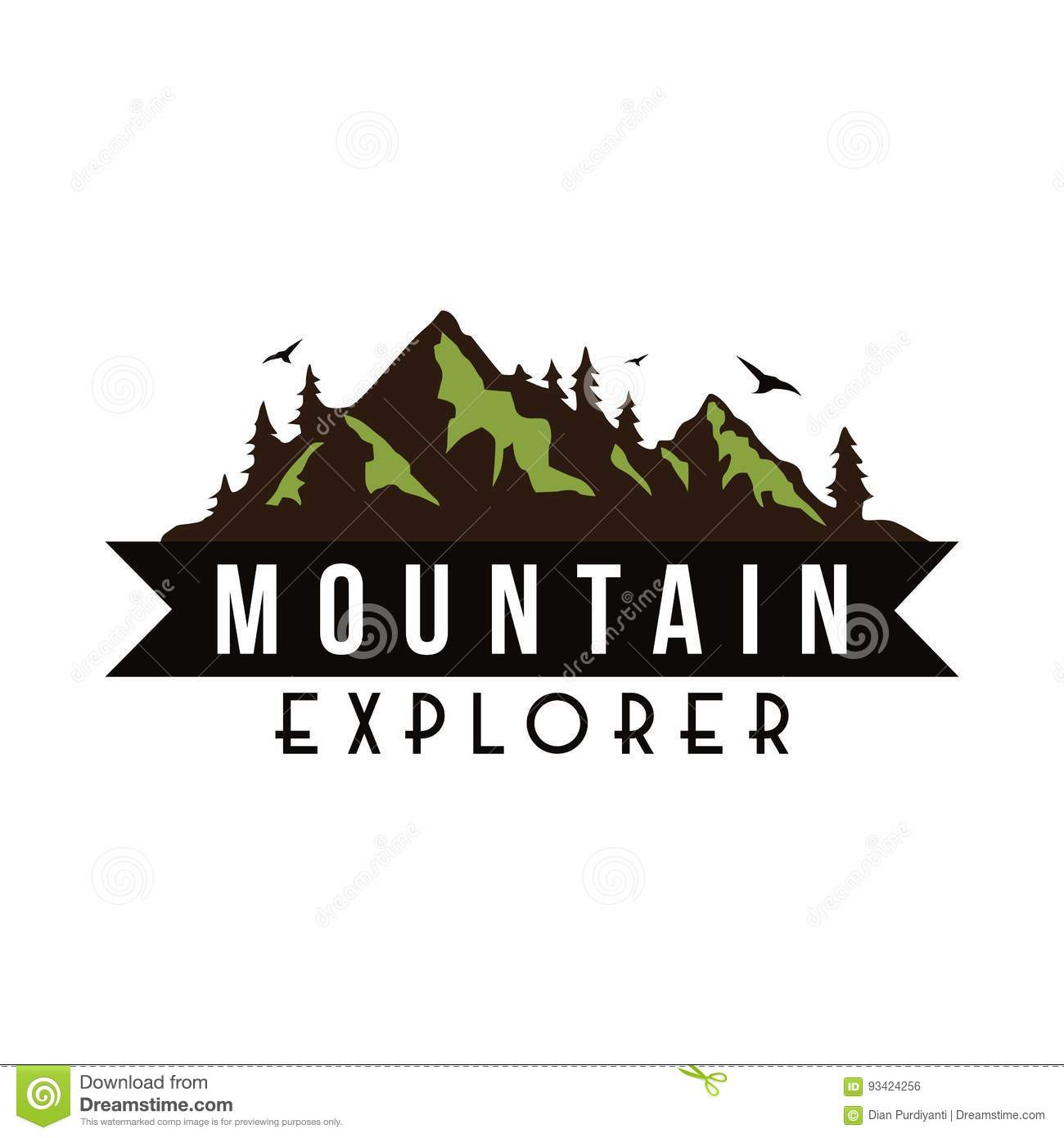 Mountain Explorer Adventure Badge Logo Vector Template