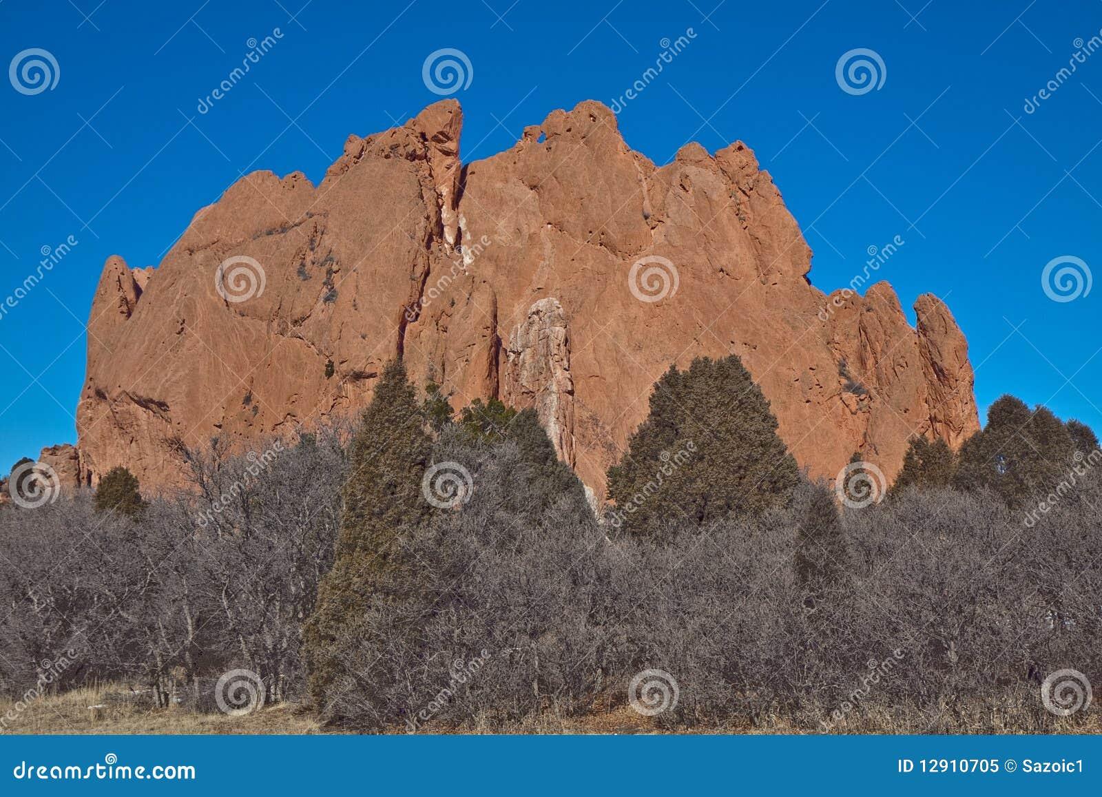 The Mountain In Garden Of Gods Stock Image - Image of garden, denver ...