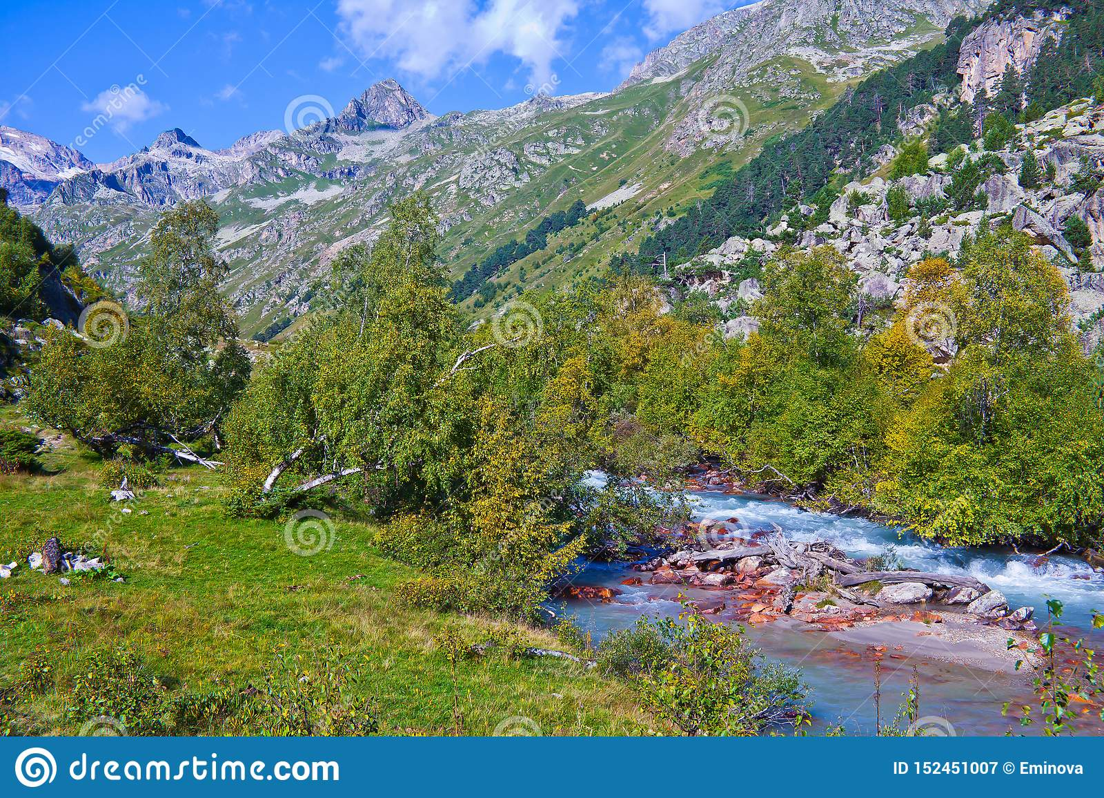 Mountain gorges of the Caucasus