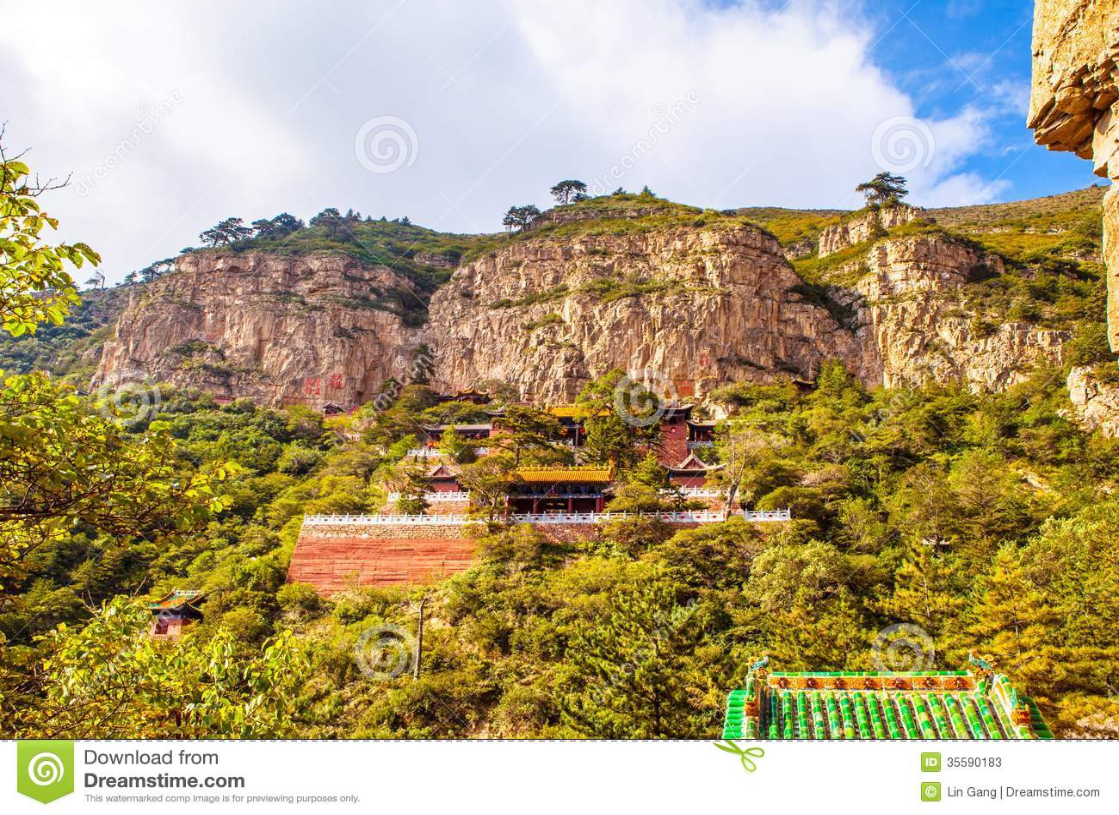 Mountain Hengshan(Northern Great Mountain) scene.