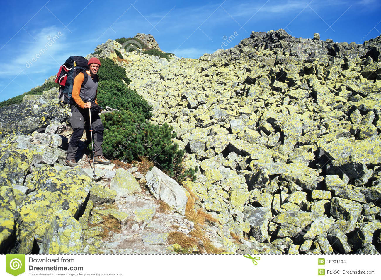 Mountain hiker stock photo. Image of mountains ...