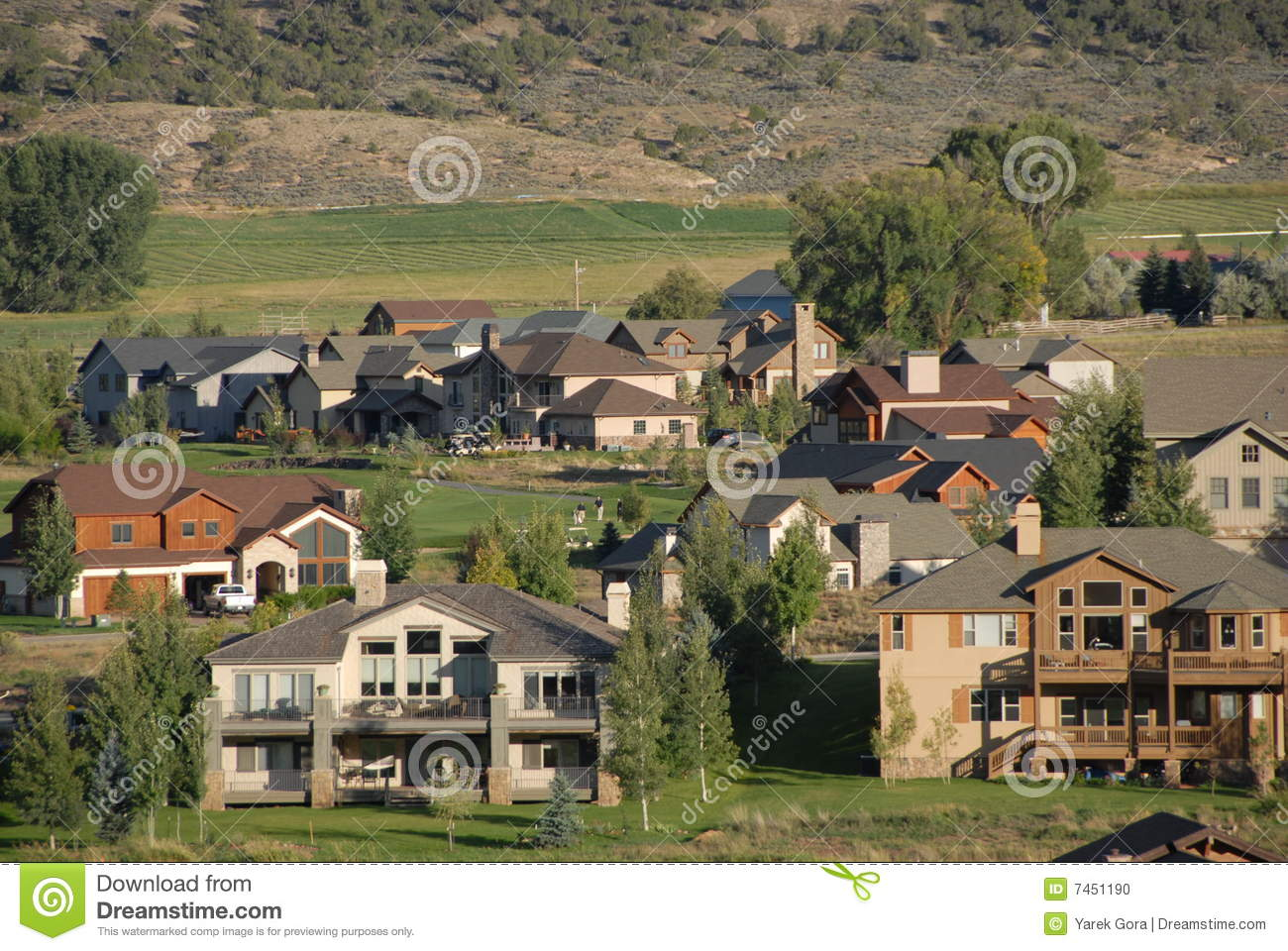 Mountain Homes Stock Photo Image 7451190