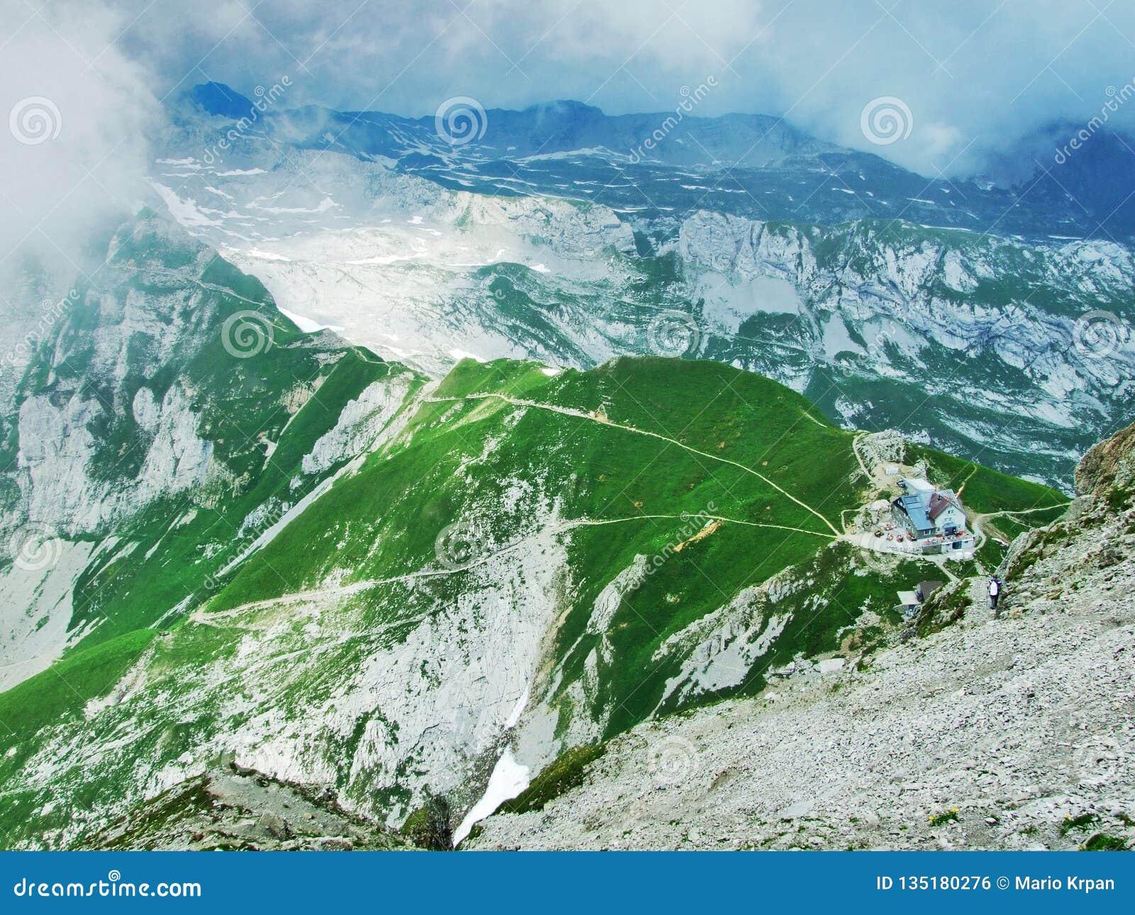 Mountain Hut Or SAC-Hutte Zwinglipass Or Zwinglipass Hutte, Sektion ...
