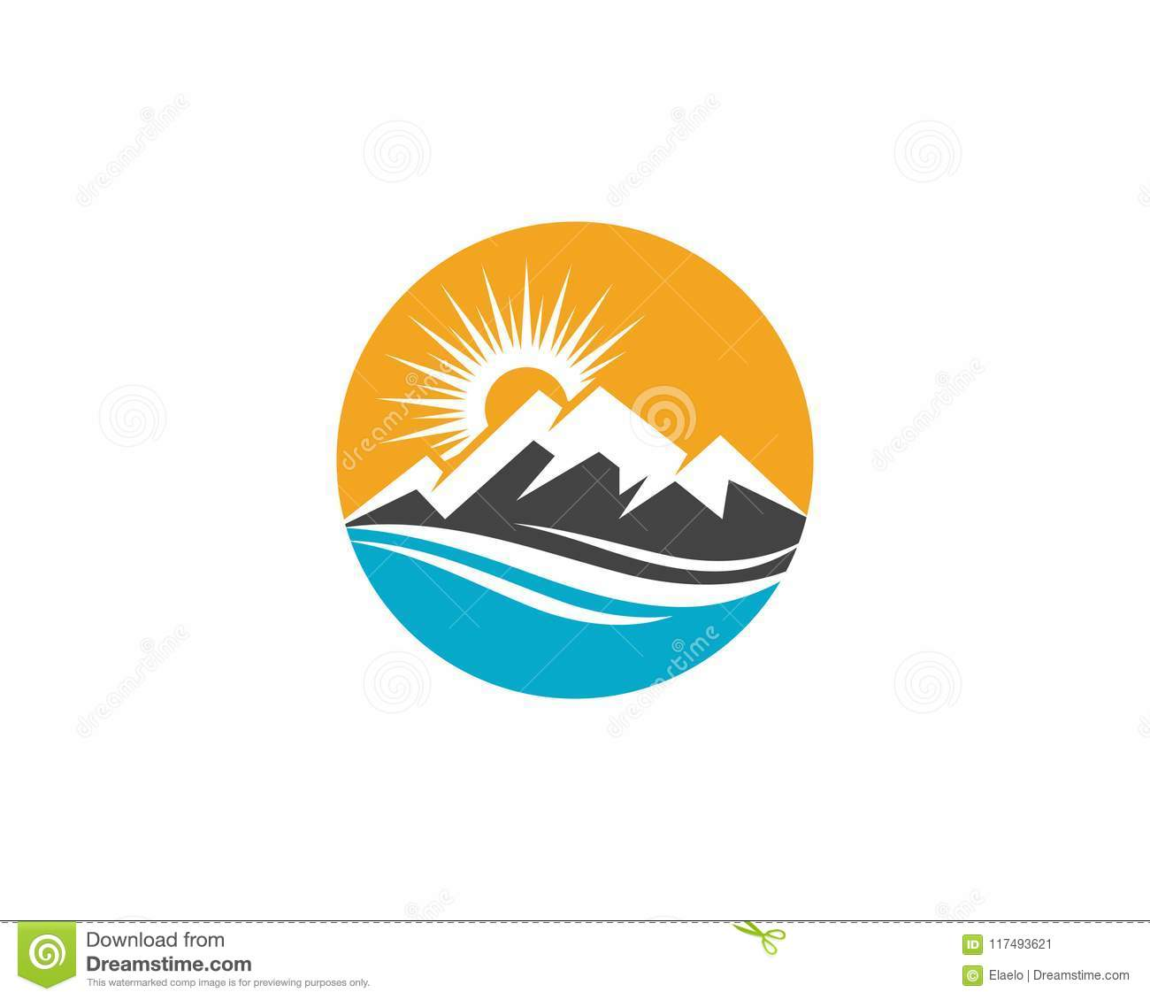 Mountain Icon Logo Template Stock Vector - Illustration of purity ...