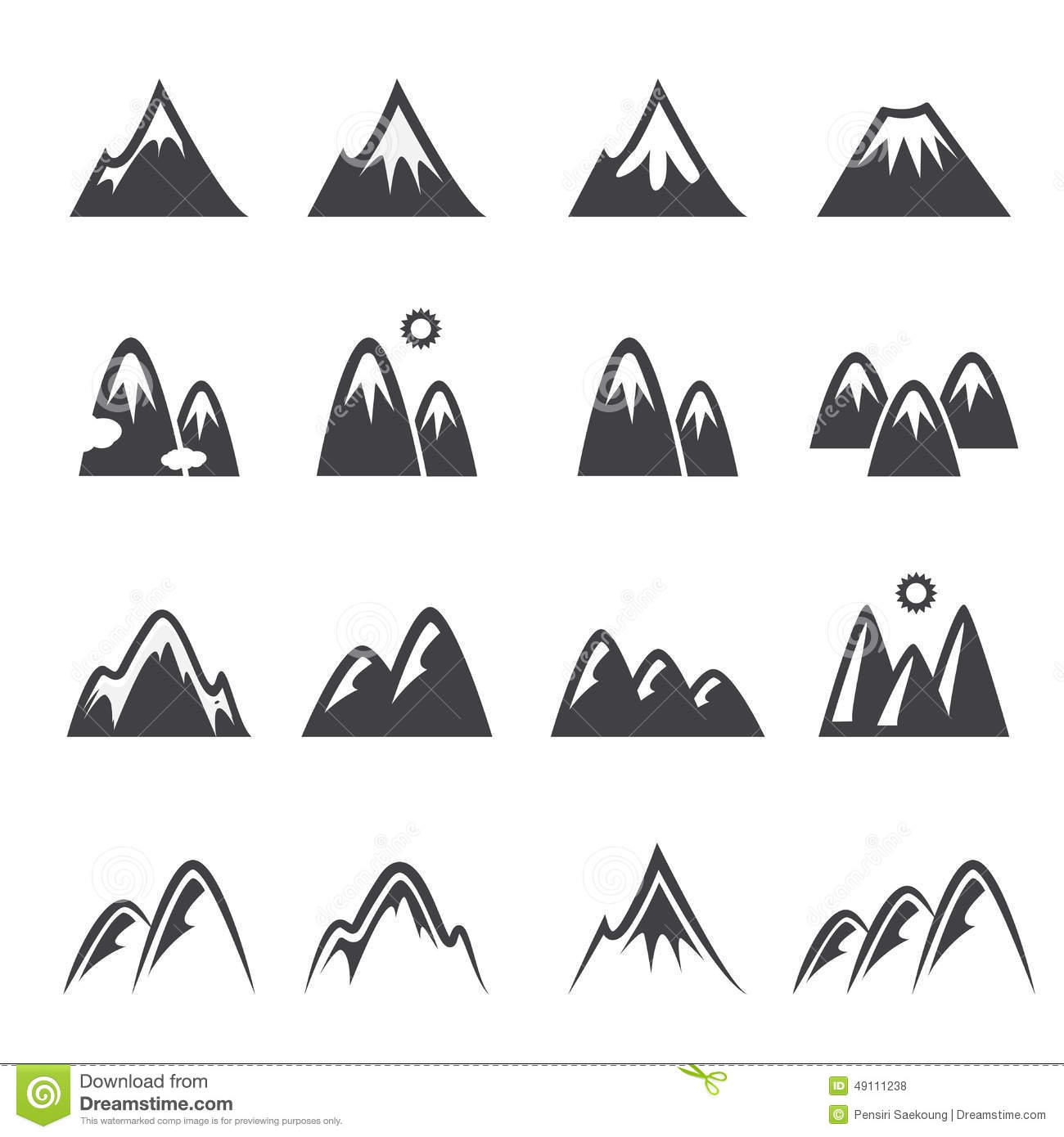 Mountain Icon Stock Vector - Image: 49111238