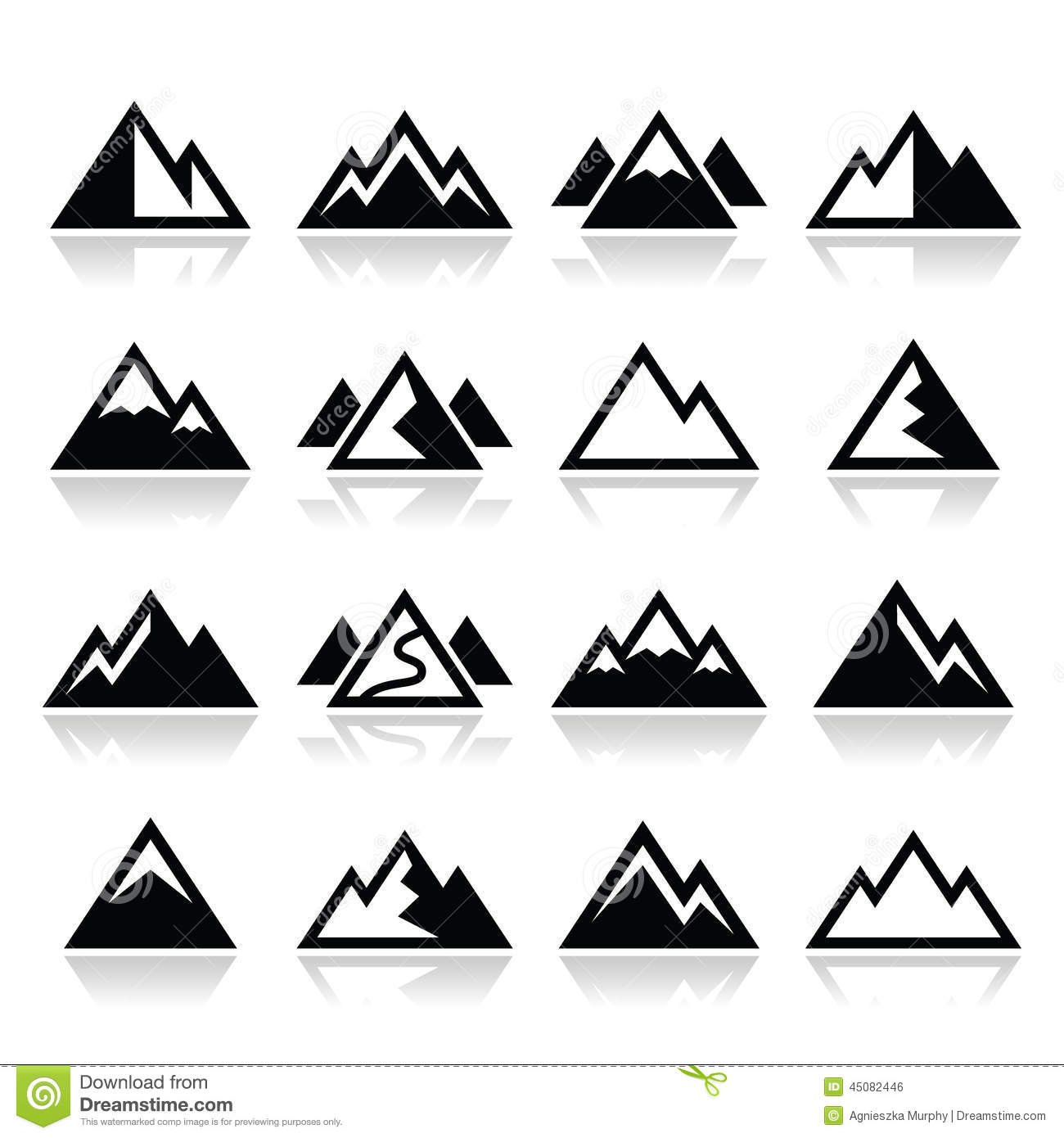 Mountain Icons Set Stock Illustration - Image: 45082446