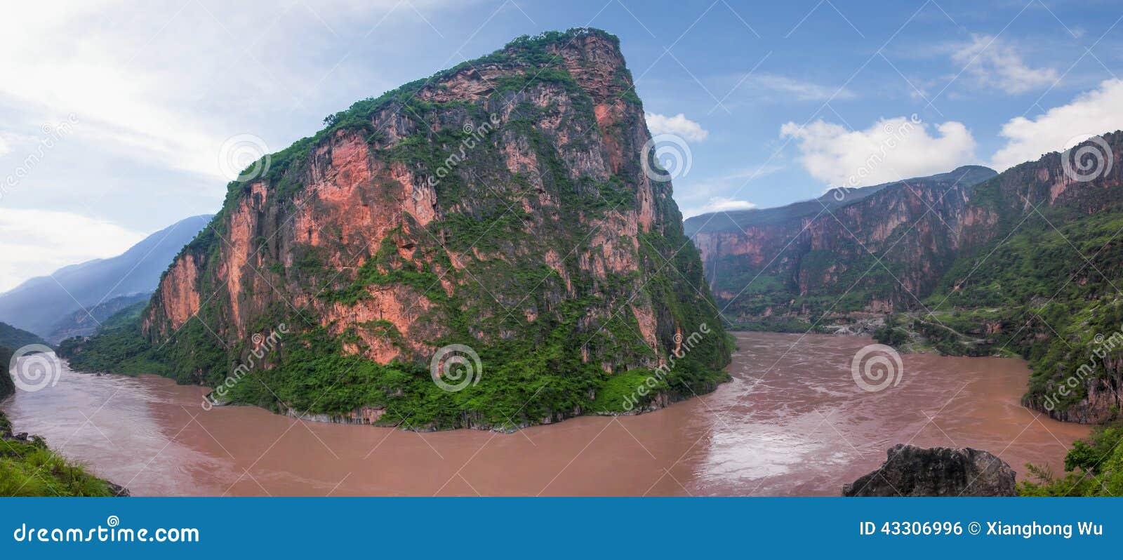 Mountain in the Jinsha River