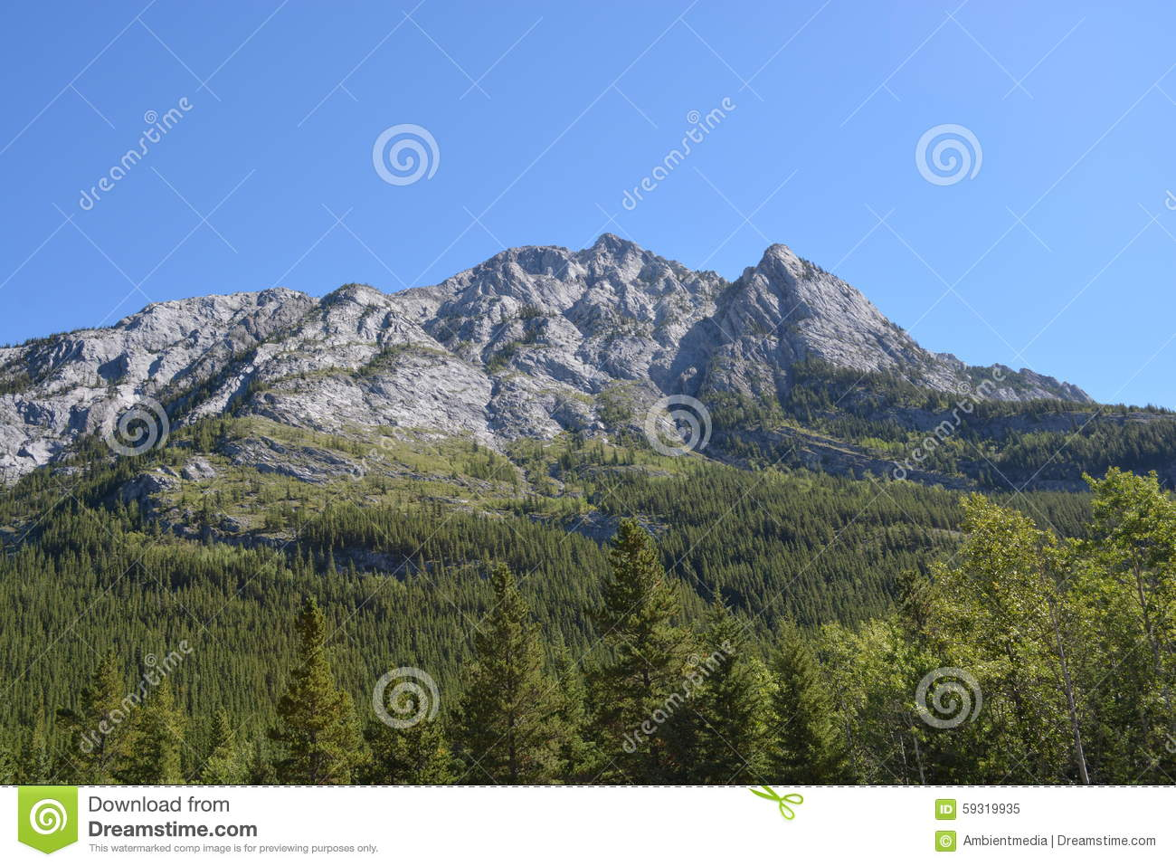 Mountain in Kananaskis Country in the Canadian Rocky Mountains ...