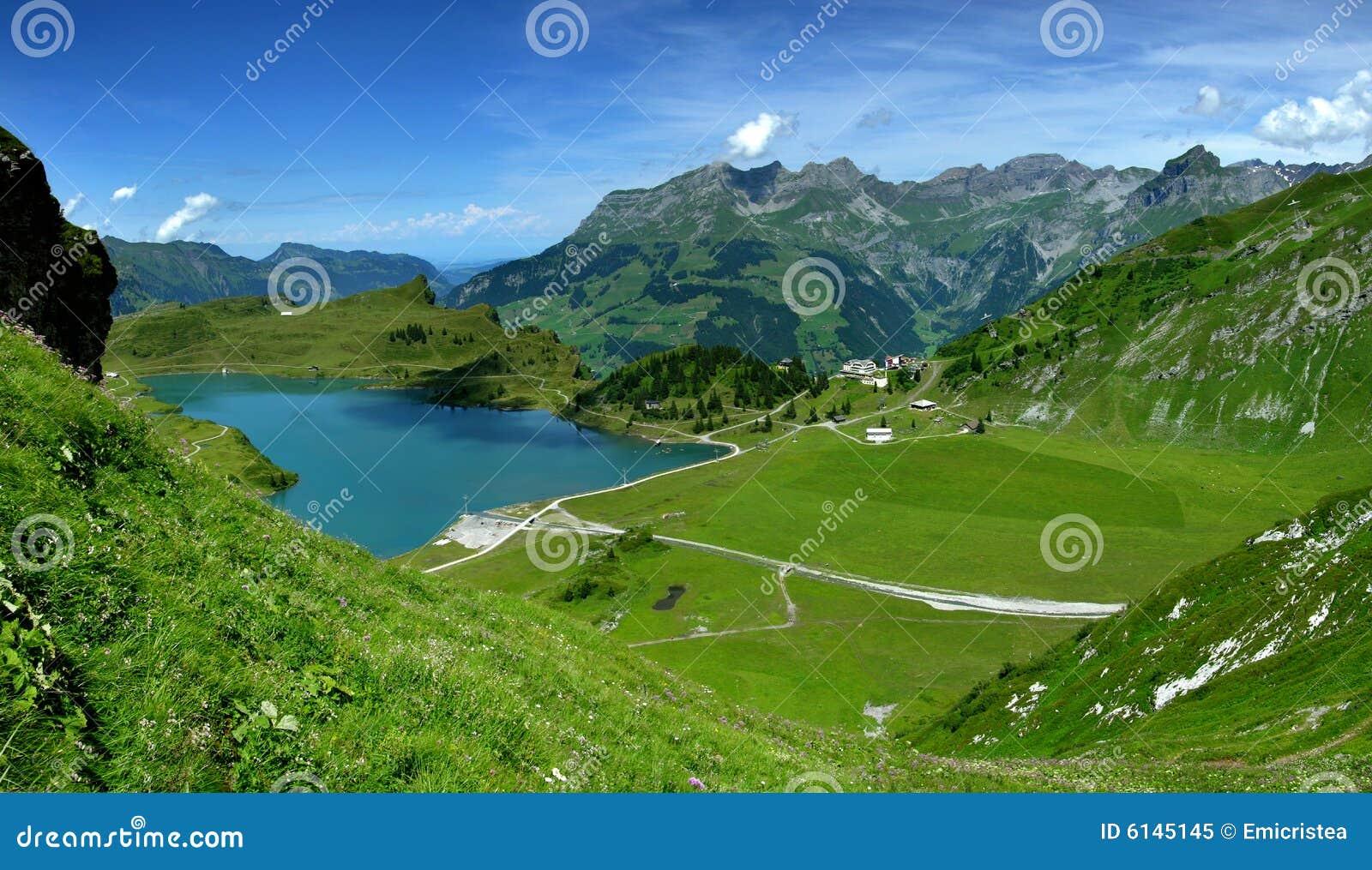 Mountain lake in Alps (Switzerland)