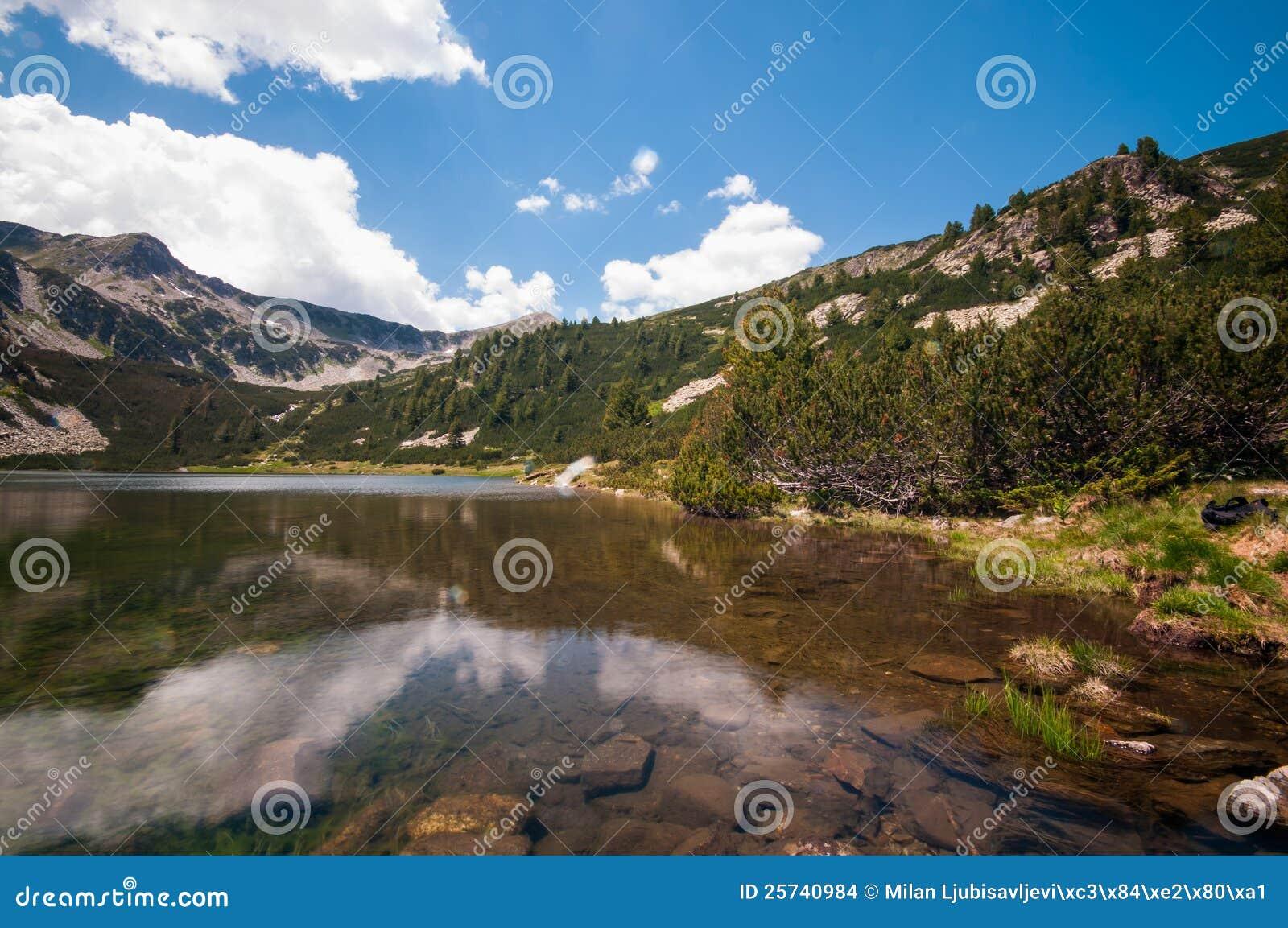 Mountain Lake and Blue Sky