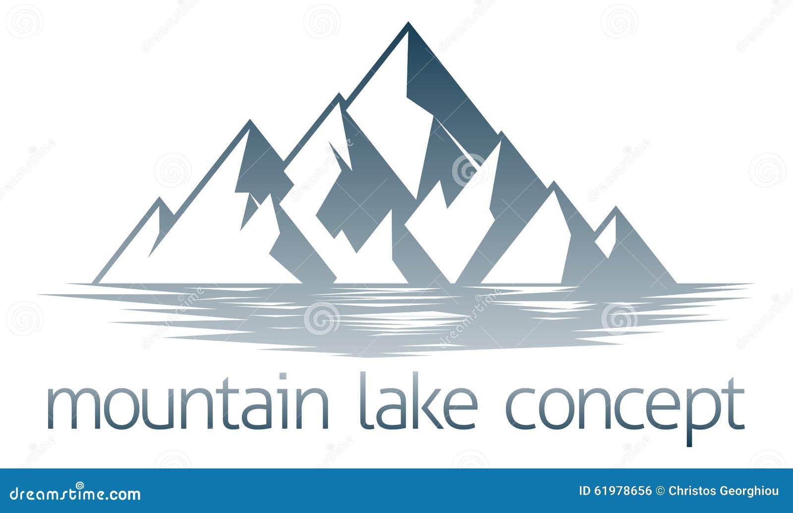 mountain lake concept stock vector image 61978656