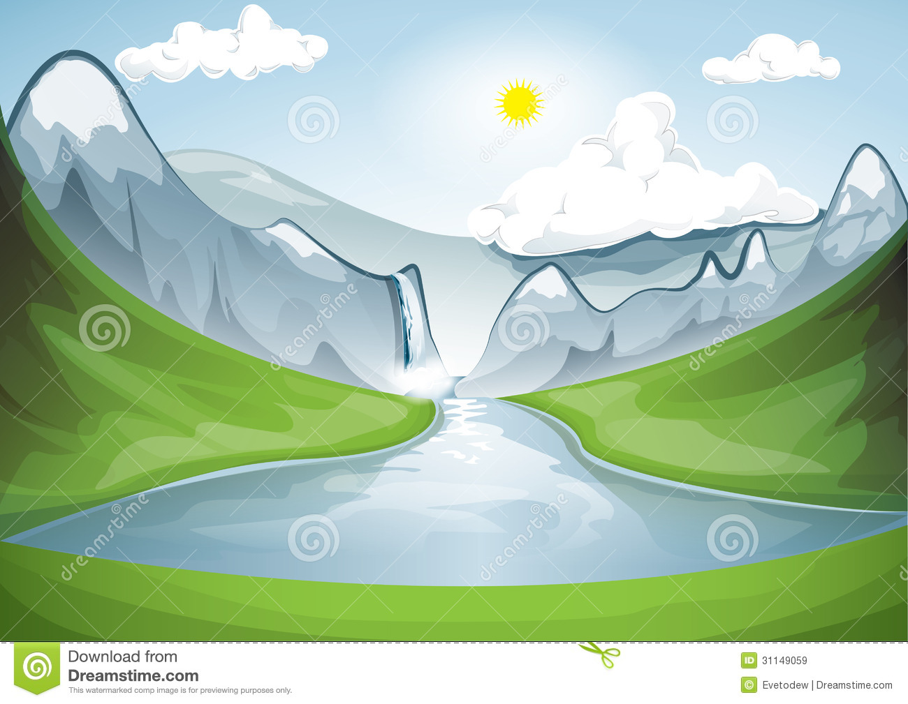 Lake Clipart Green Nature - Illustration - Png Download (#3817959) -  PinClipart