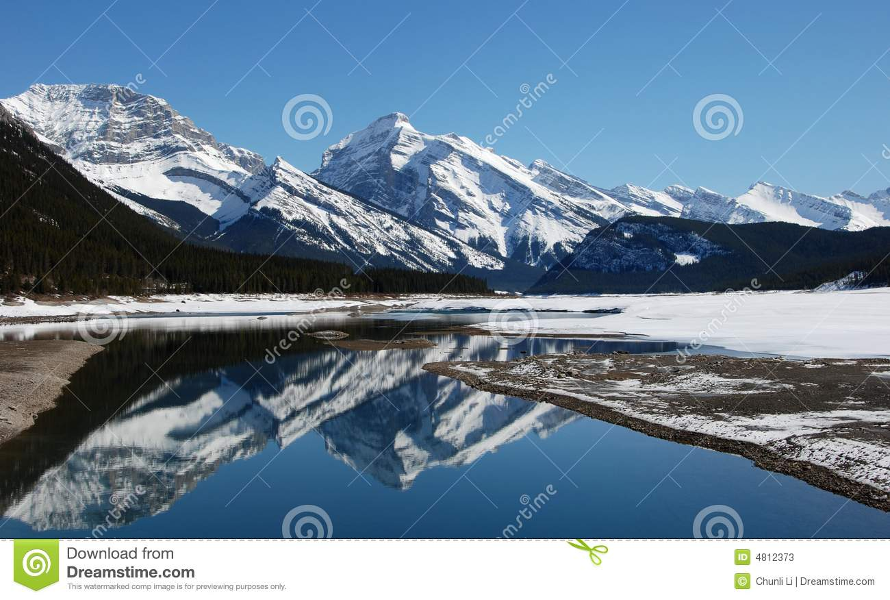 Mountain and lakes in Rockies