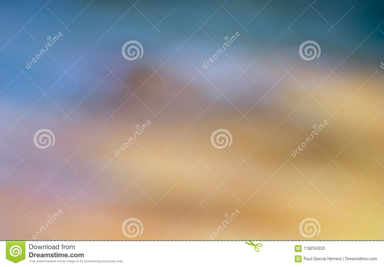 Mountain landscape Abstract colorful blurred background.