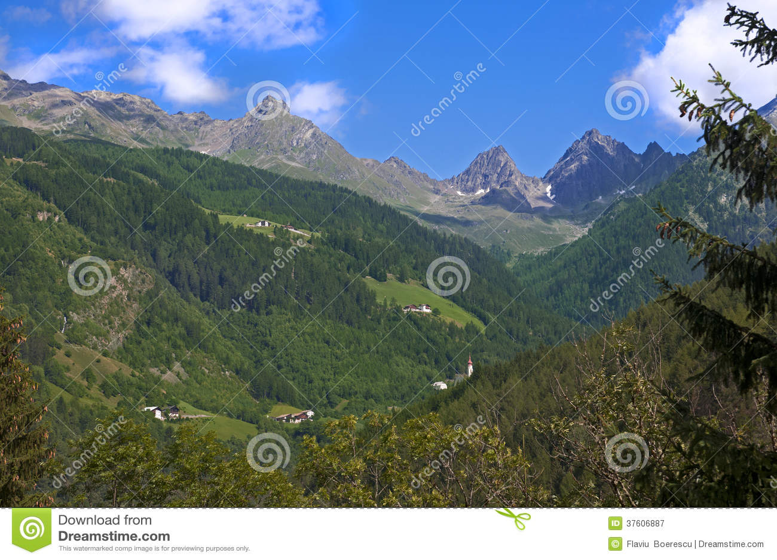 Mountain landscape in Austria Tirol