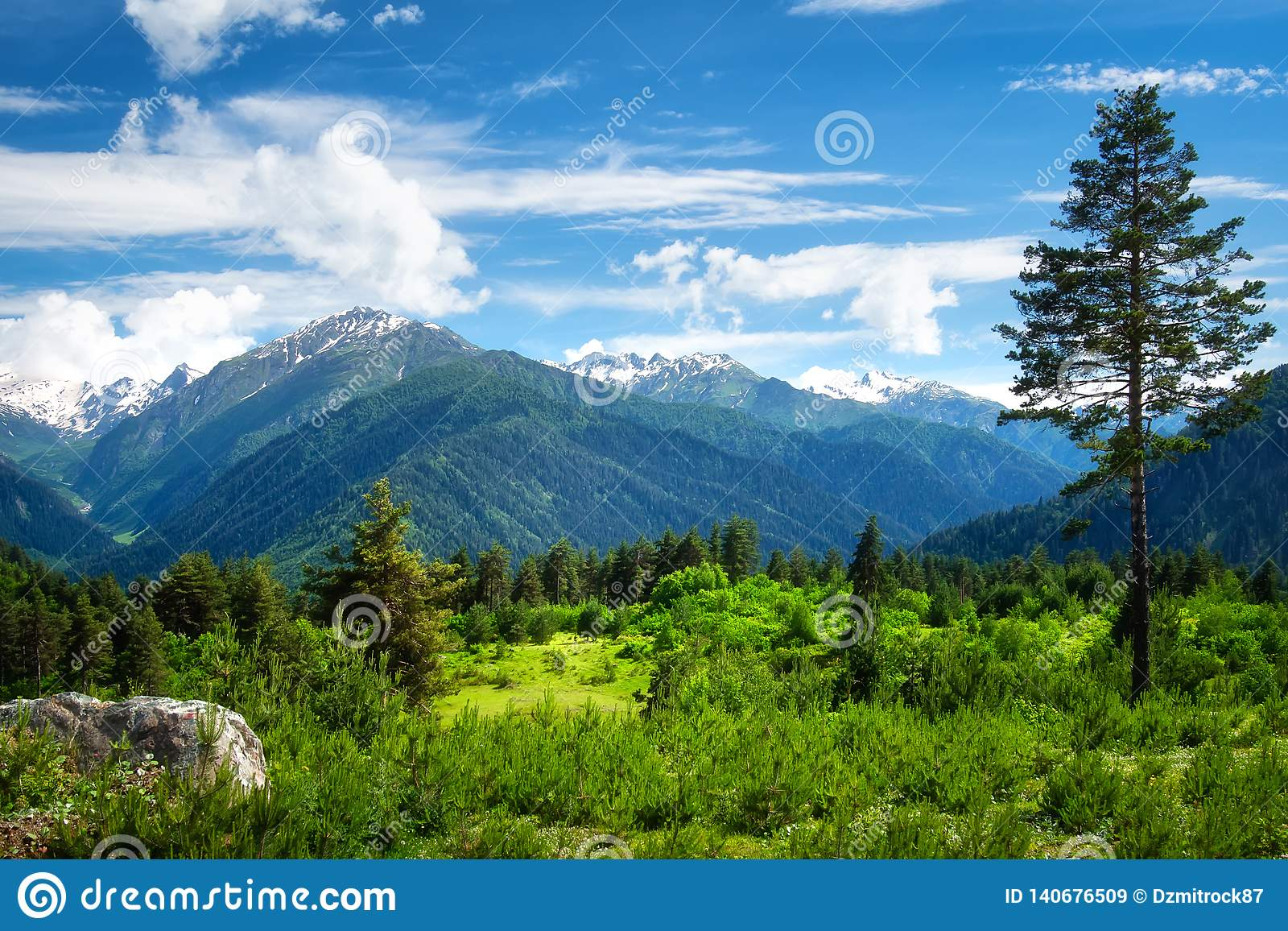 Mountain landscape. Beautiful view on mountains