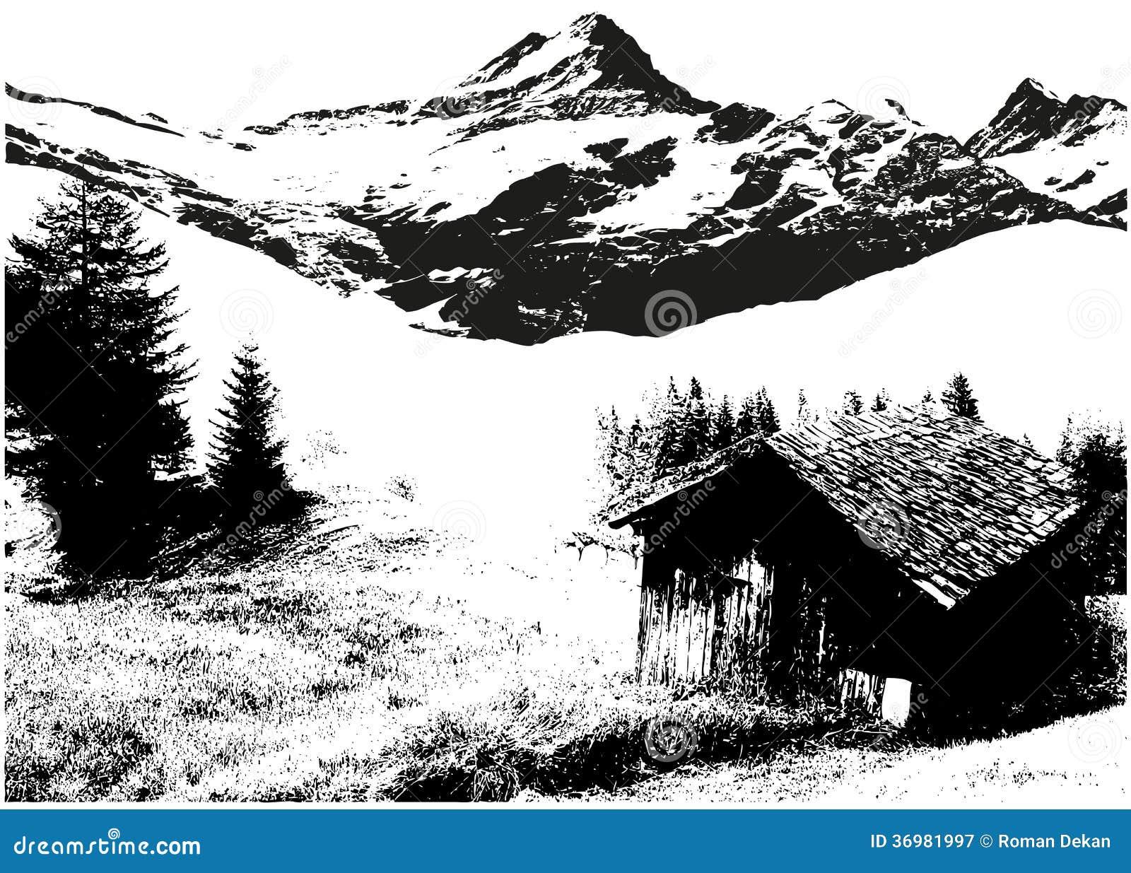 Landscape Illustration Vector Free: Mountain Landscape Stock Vector. Illustration Of Hill