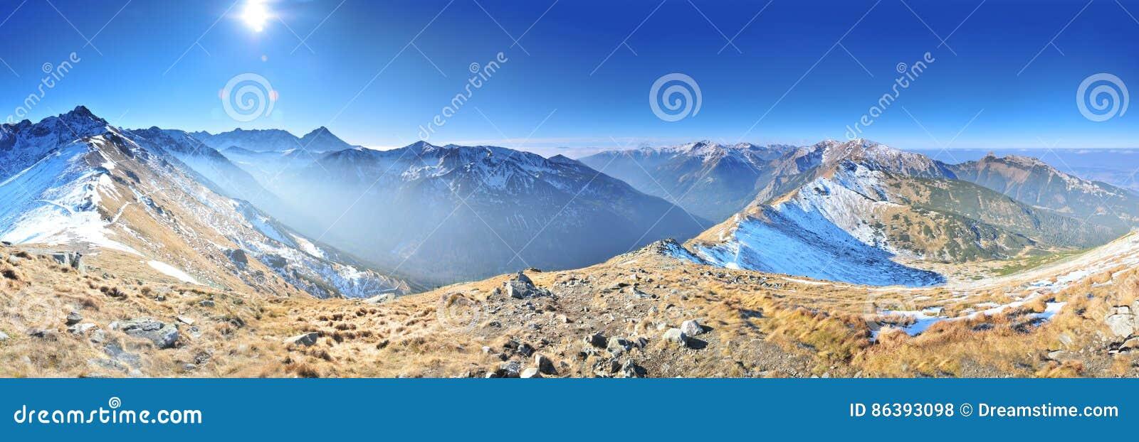 Mountain landscape panoram