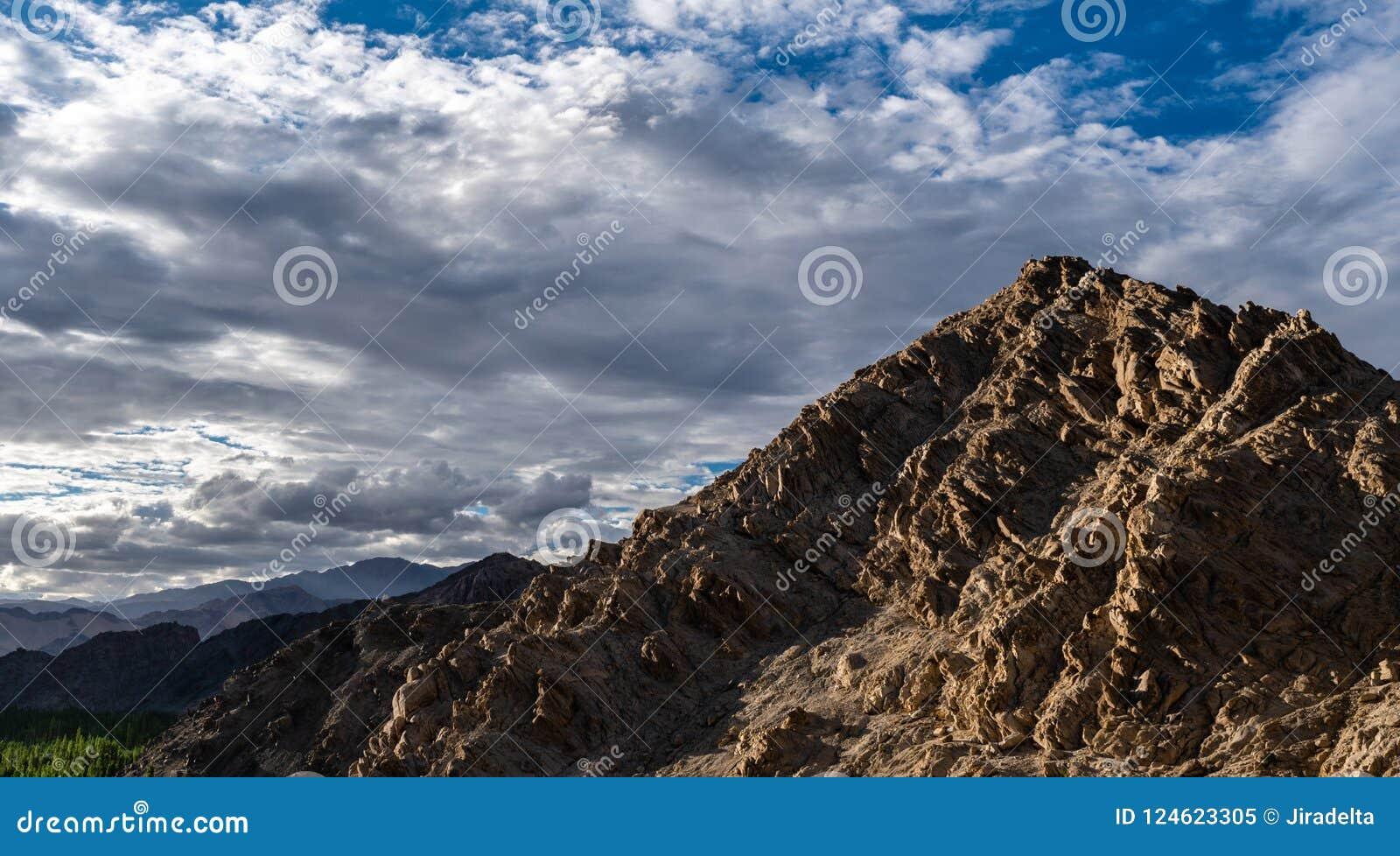 Rocky Mountain in Leh Ladakh ,Jammu and Kashmir ,