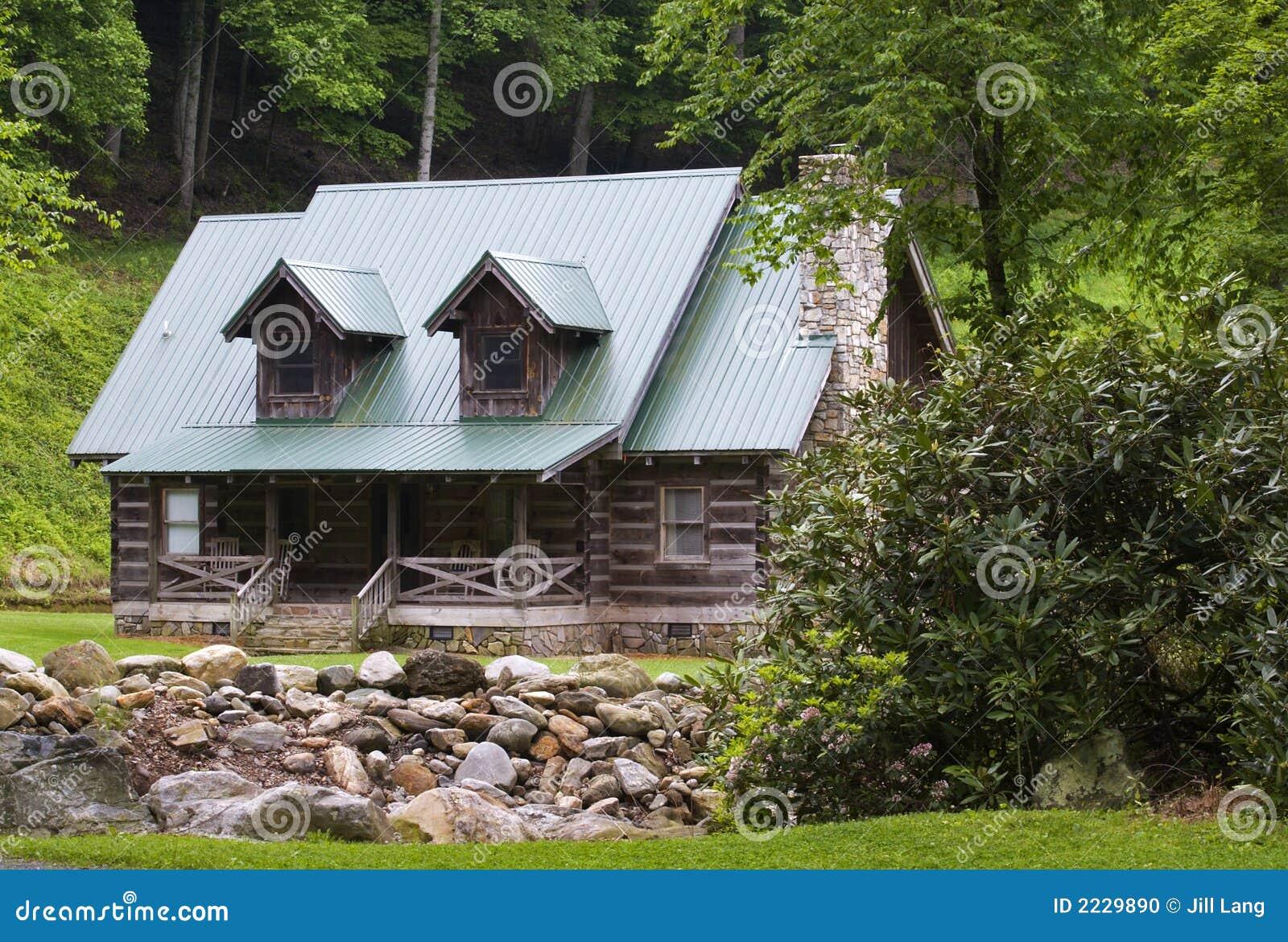 Mountain Log Cabin Stock Photo Image 2229890