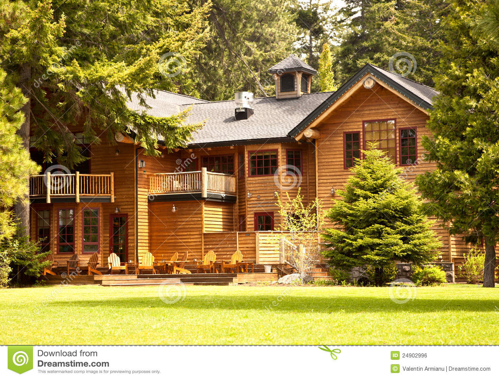 Kitchen Designers In Maryland Mountain Log Cabin Royalty Free Stock Image Image 24902996