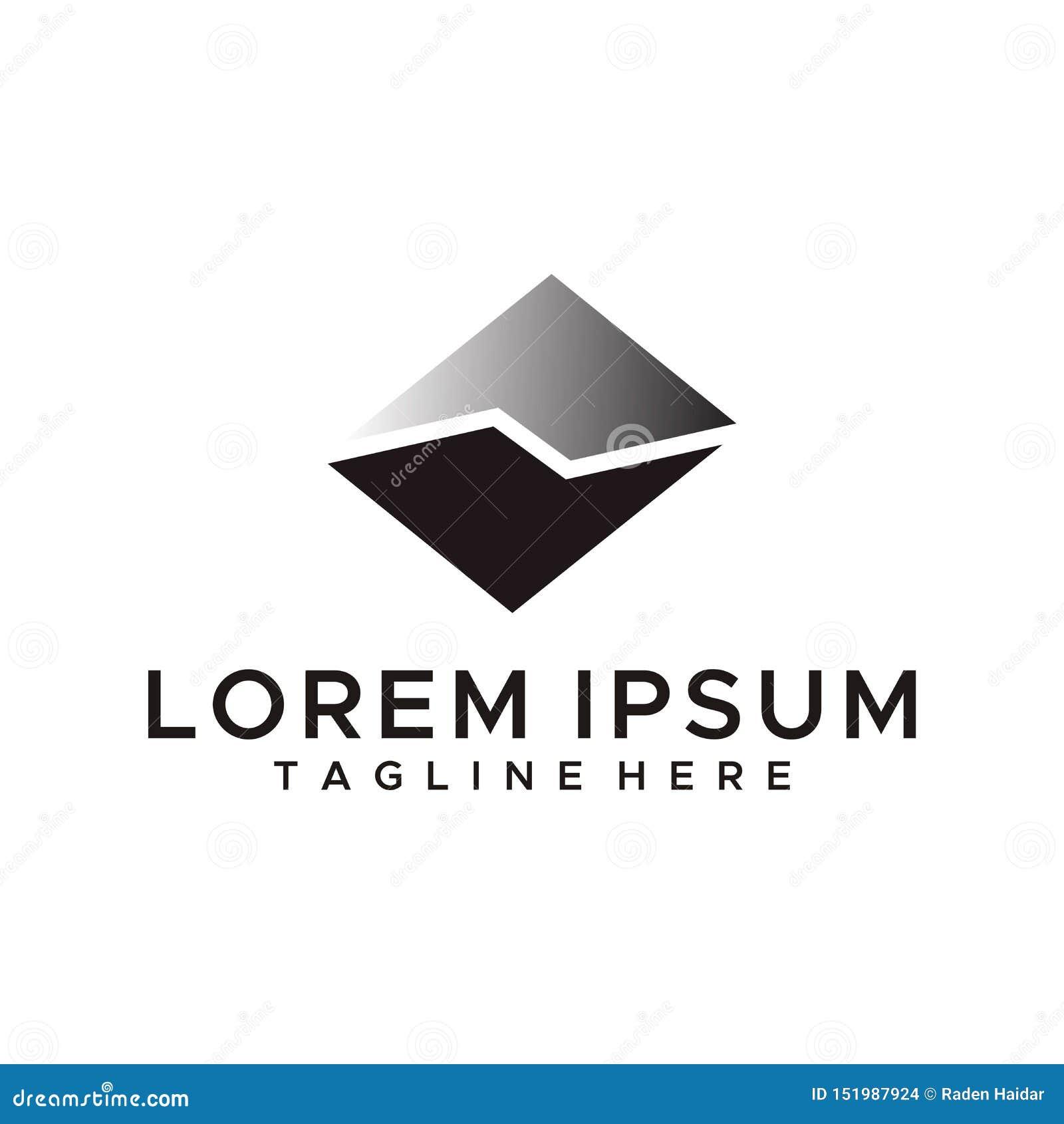 Mountain logo design vector simple style