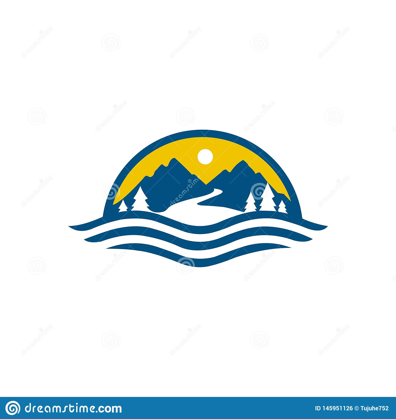 Mountain Logo template vector icon illustration desig