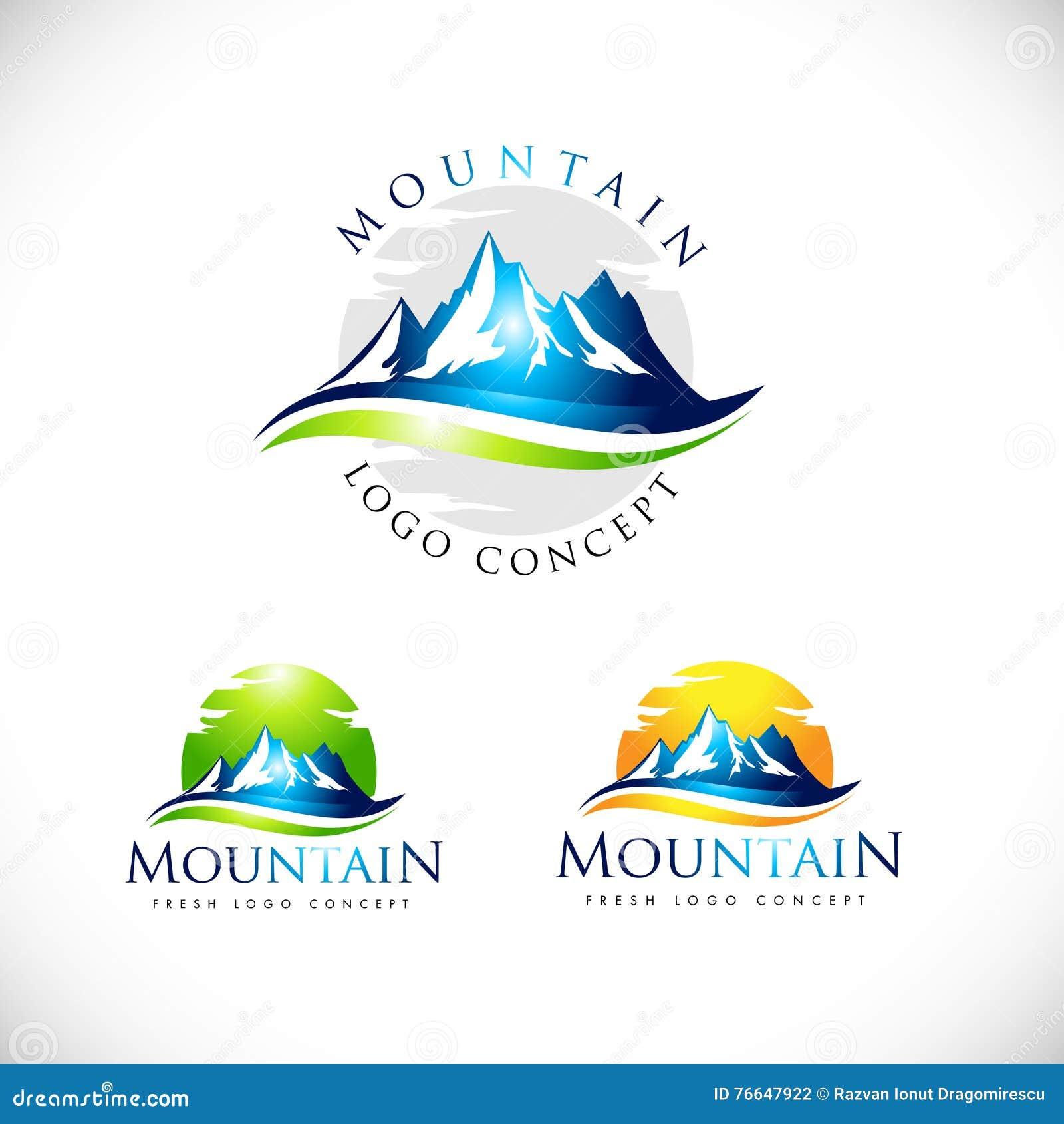 mountain business logo vector illustration cartoondealer mobile home clipart motorhome clipart images