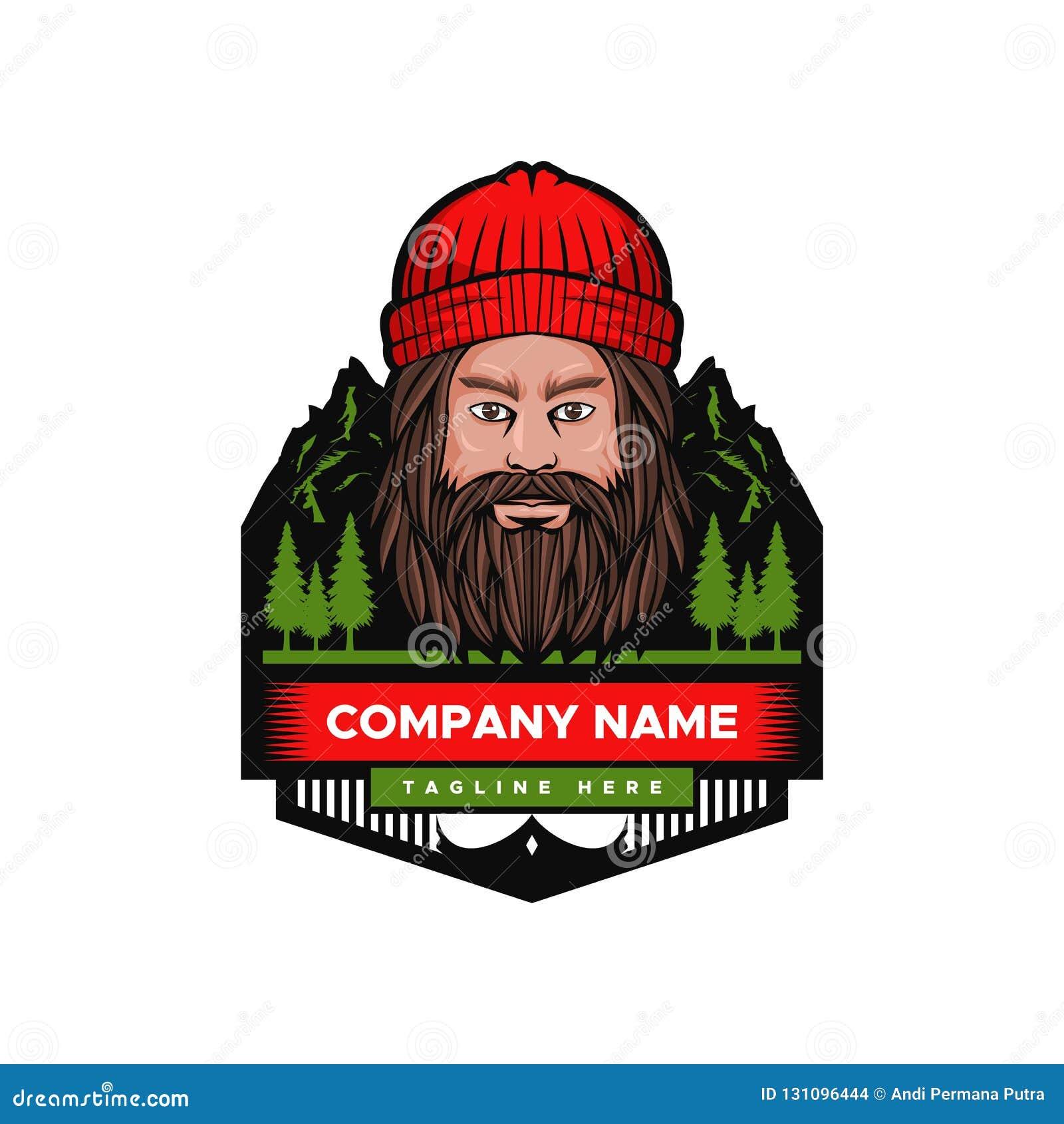 Mountain Man Vector illustration badge