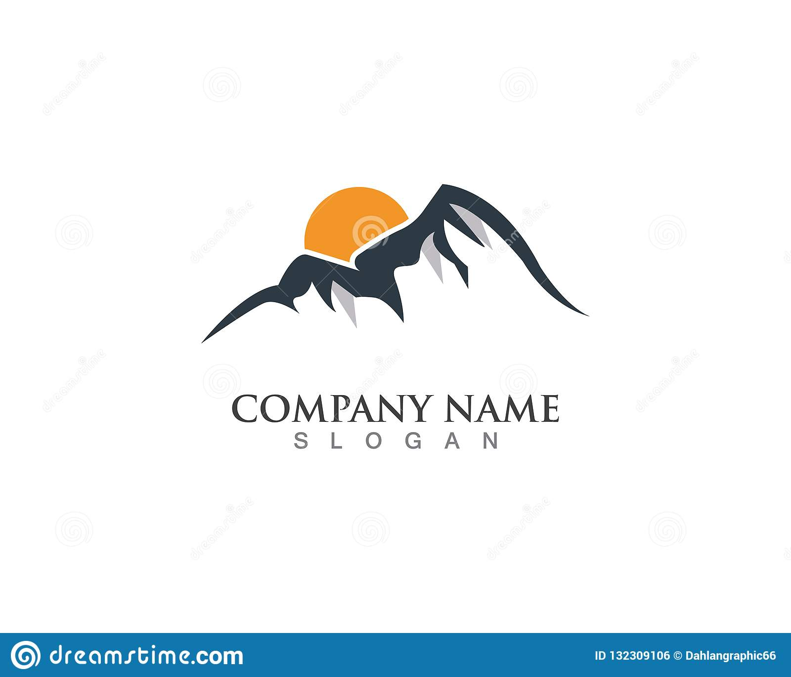 Mountain Nature Logo Business Vector Clipart Stock Illustration Illustration Of Vector Typography 132309106