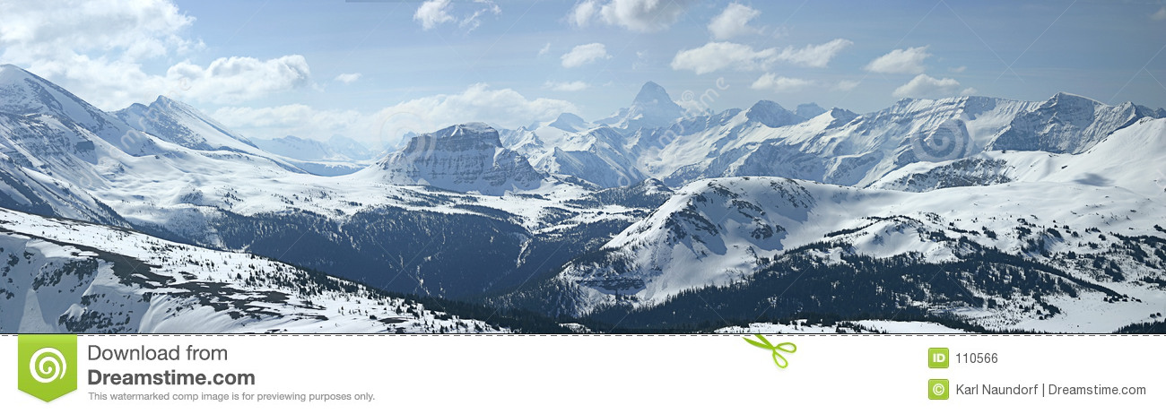 Download Mountain Panoramic stock photo. Image of trees, banner - 110566