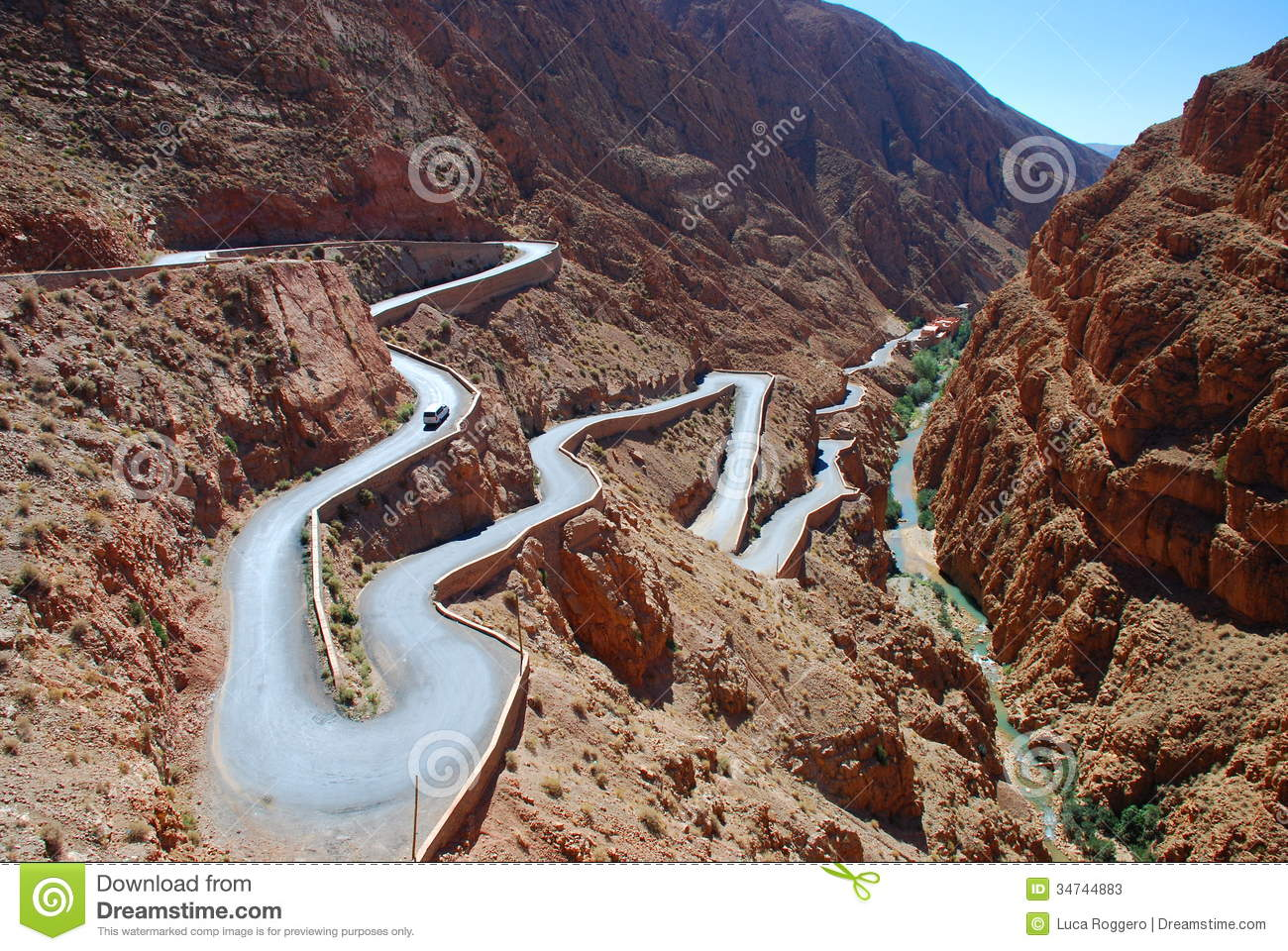 Mountain Pass Road In Dadès Gorges. Morocco Stock Photos ...