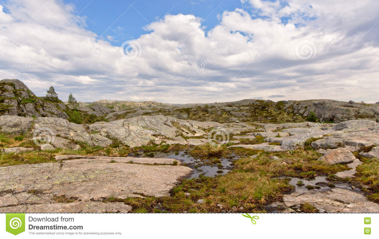 Mountain plateau in Forsand, Rogaland, Norway