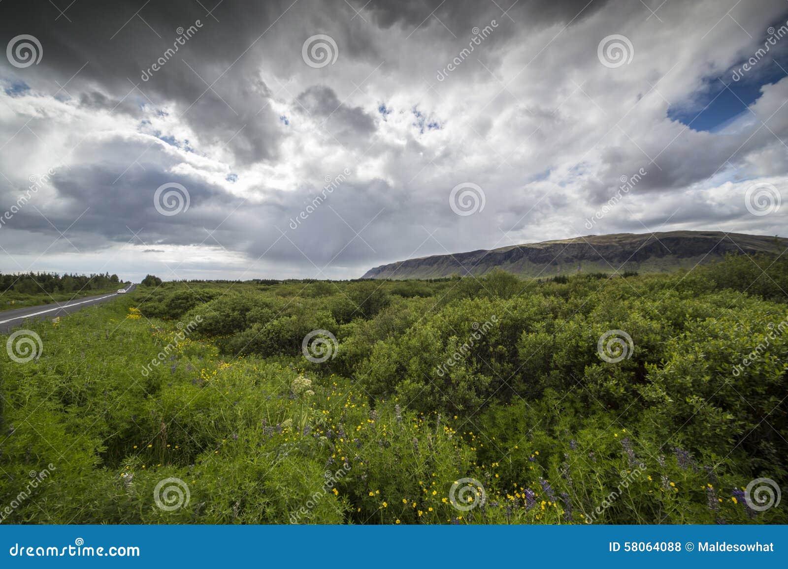 Mountain and rain clouds Rain
