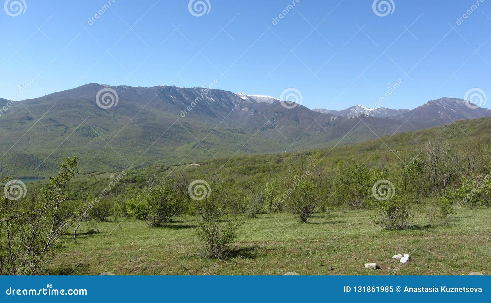 Mountain range Babugan, Crimea.