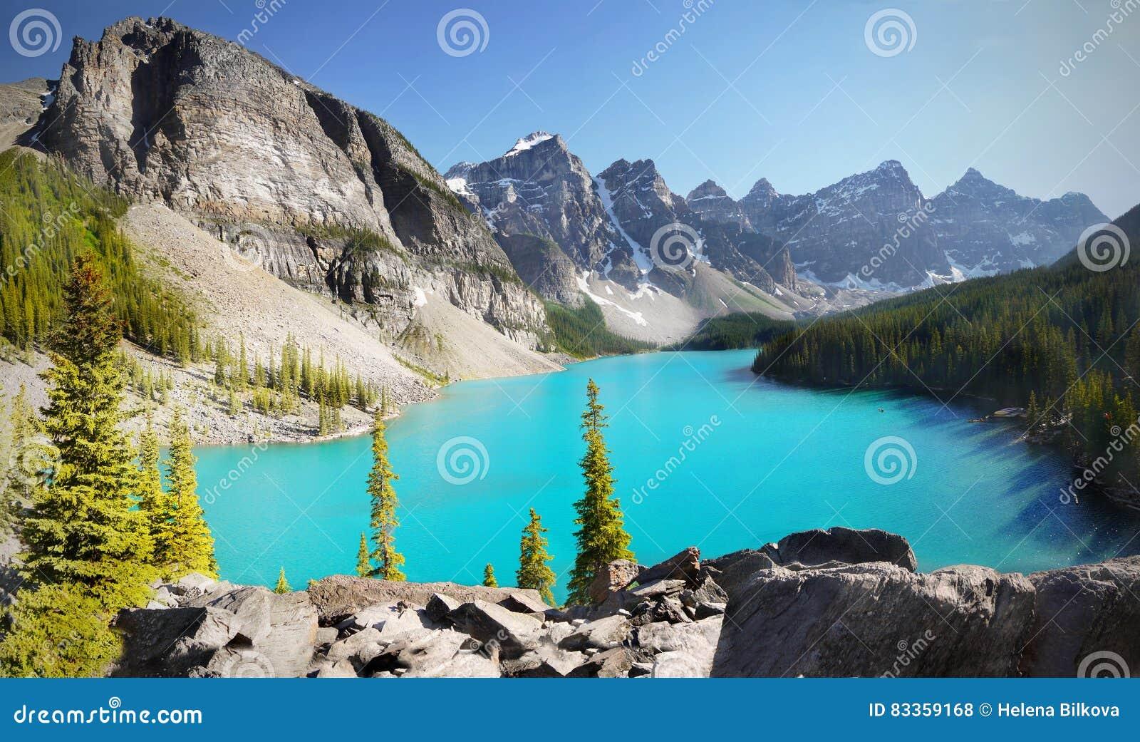 Canada, Mountains Landscape, Moraine Lake
