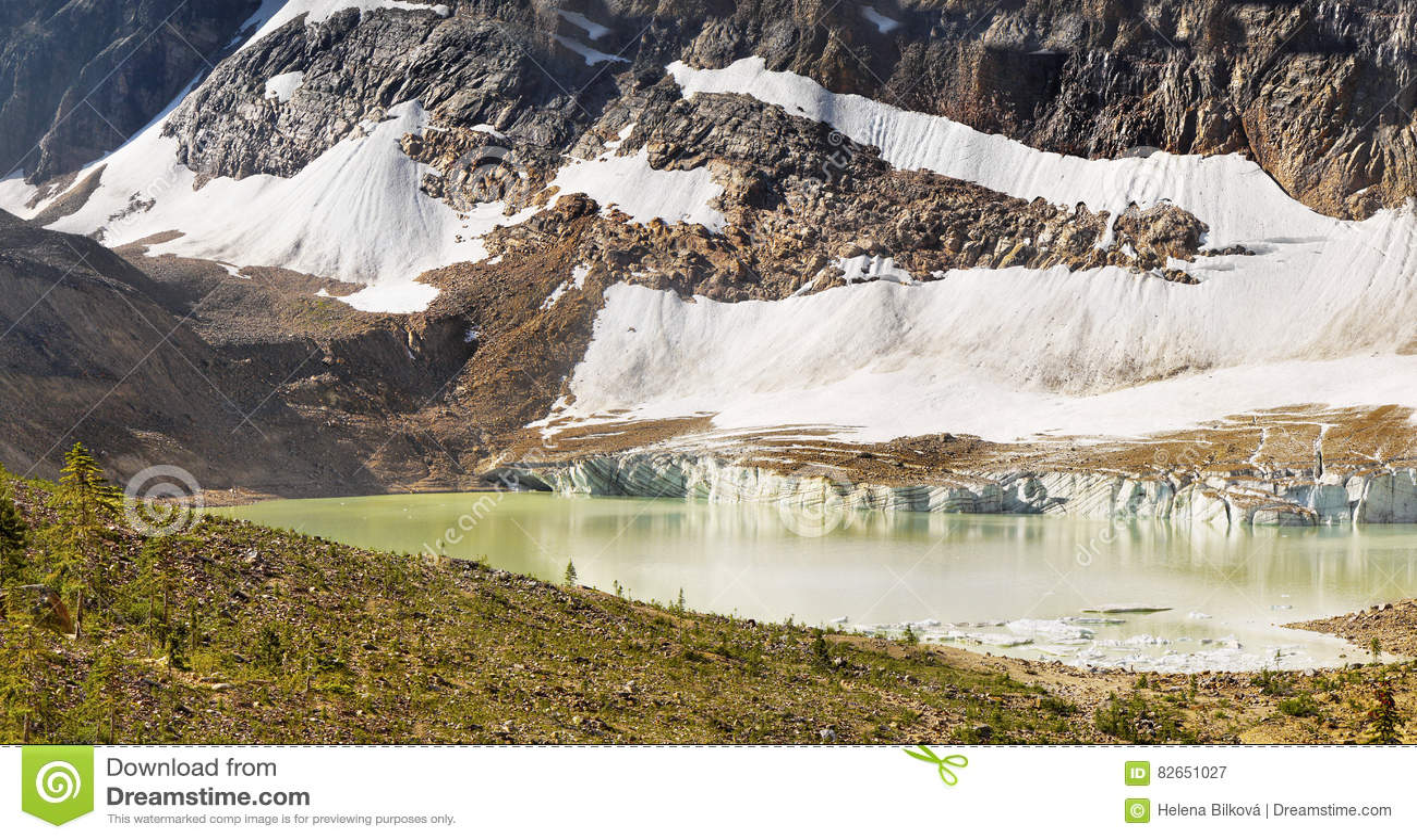 Mountain Range landscape, Rocky Mountains, Canada