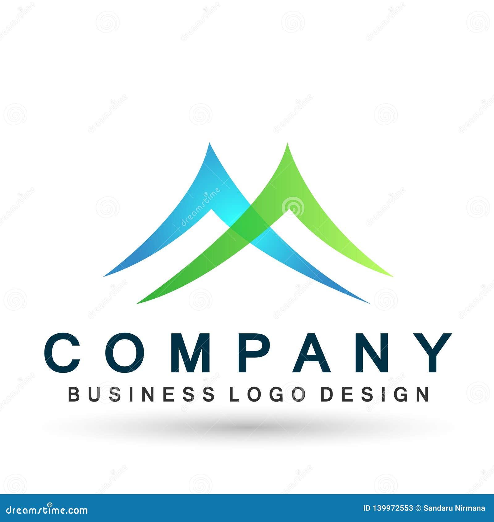 Mountain Range Letter M Logo Icons Symbol Logo Design On