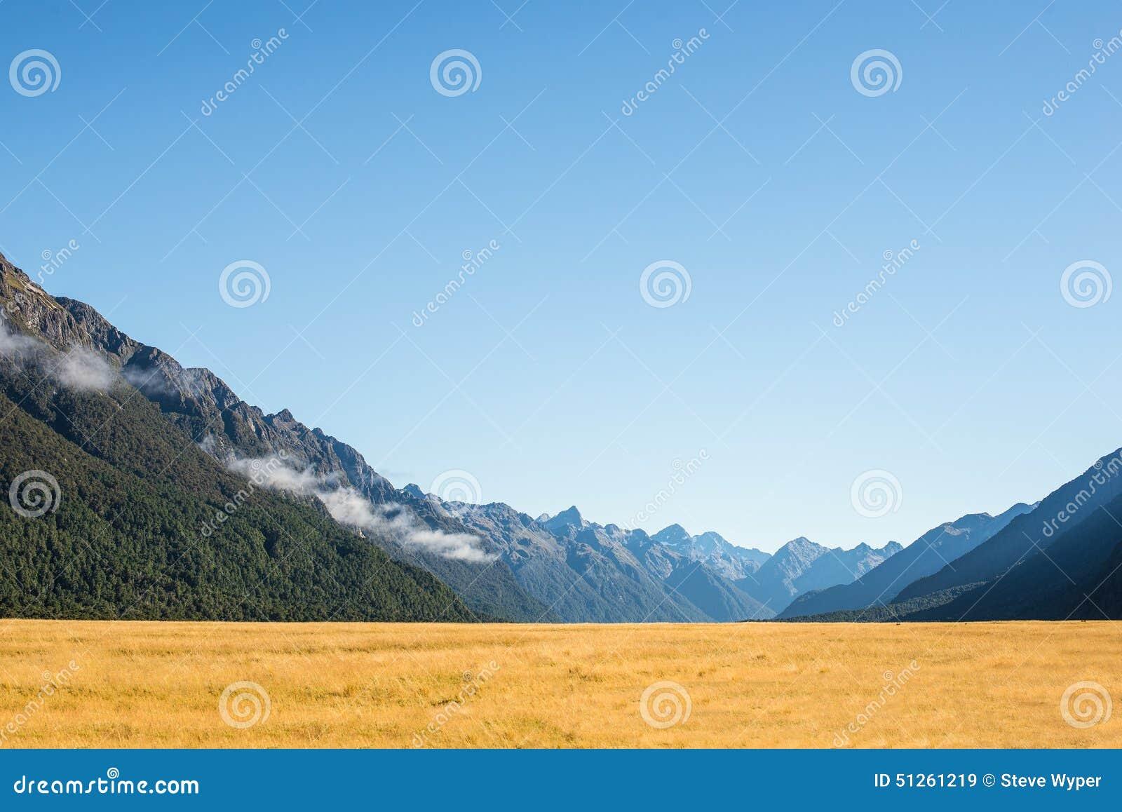 Mountain Range In New Zealand Stock Photo Image 51261219