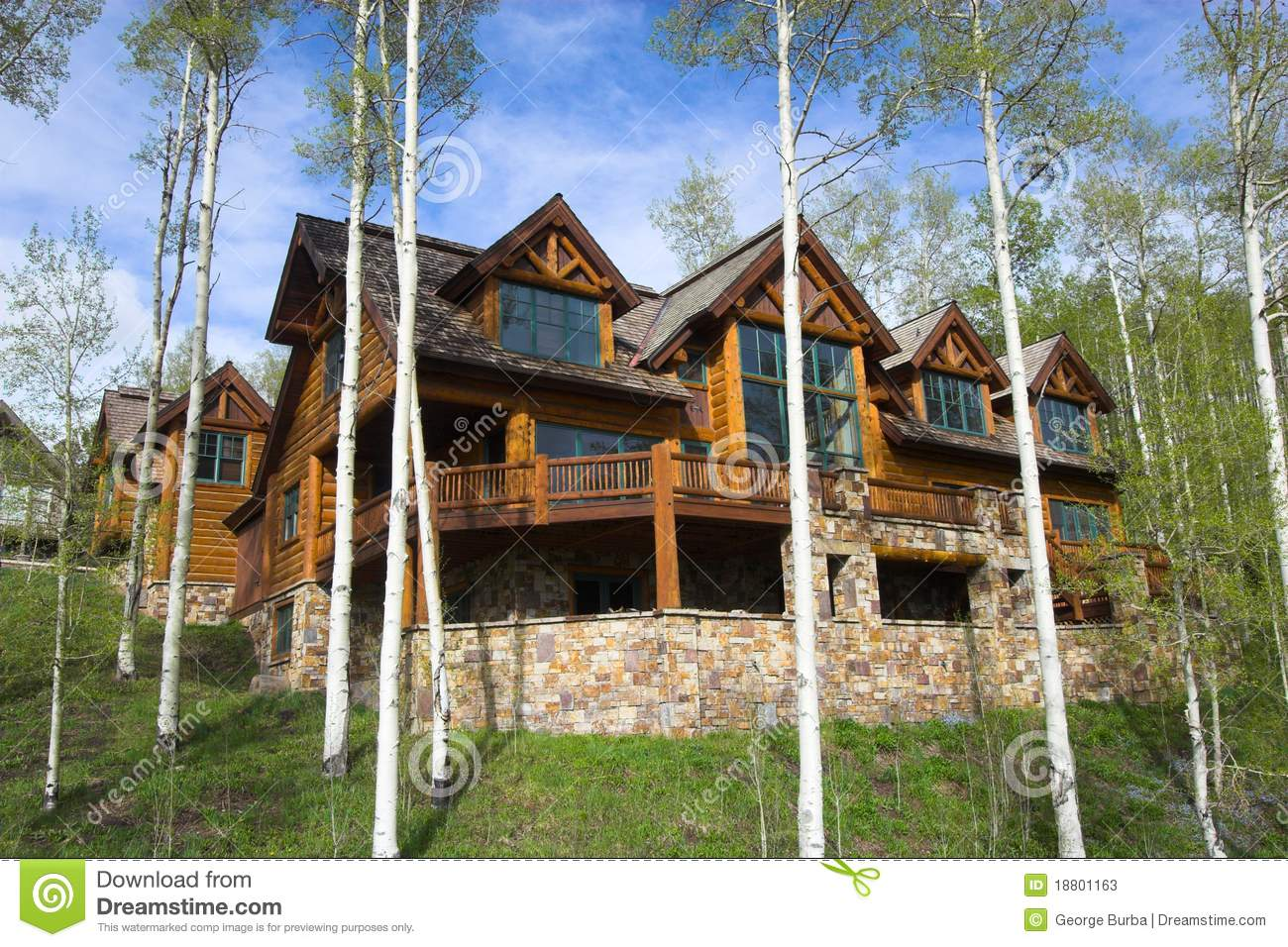 Mountain Resort House Stock Image Image Of Relaxation