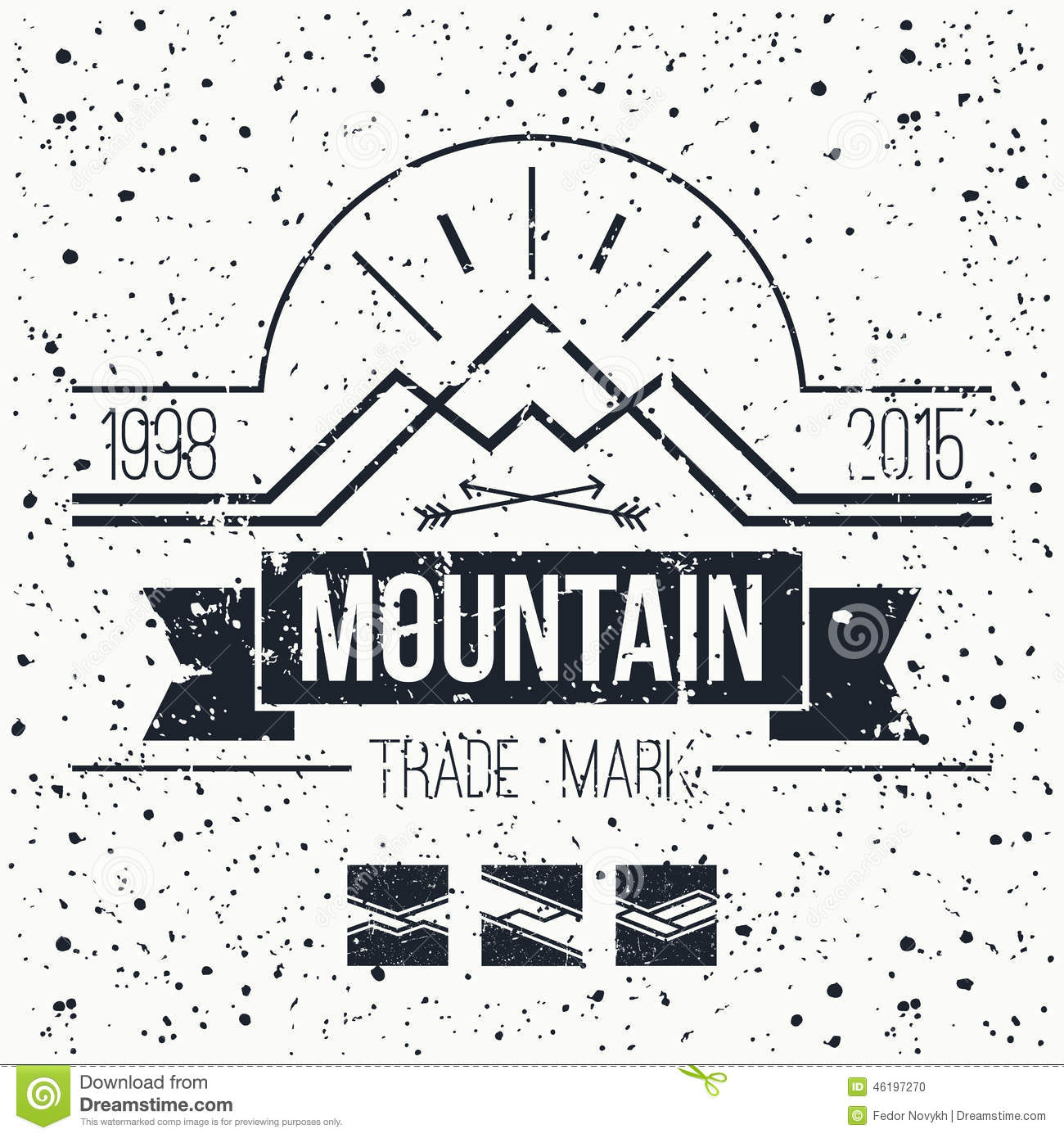 mountain retro emblem stock vector illustration of hiking 46197270