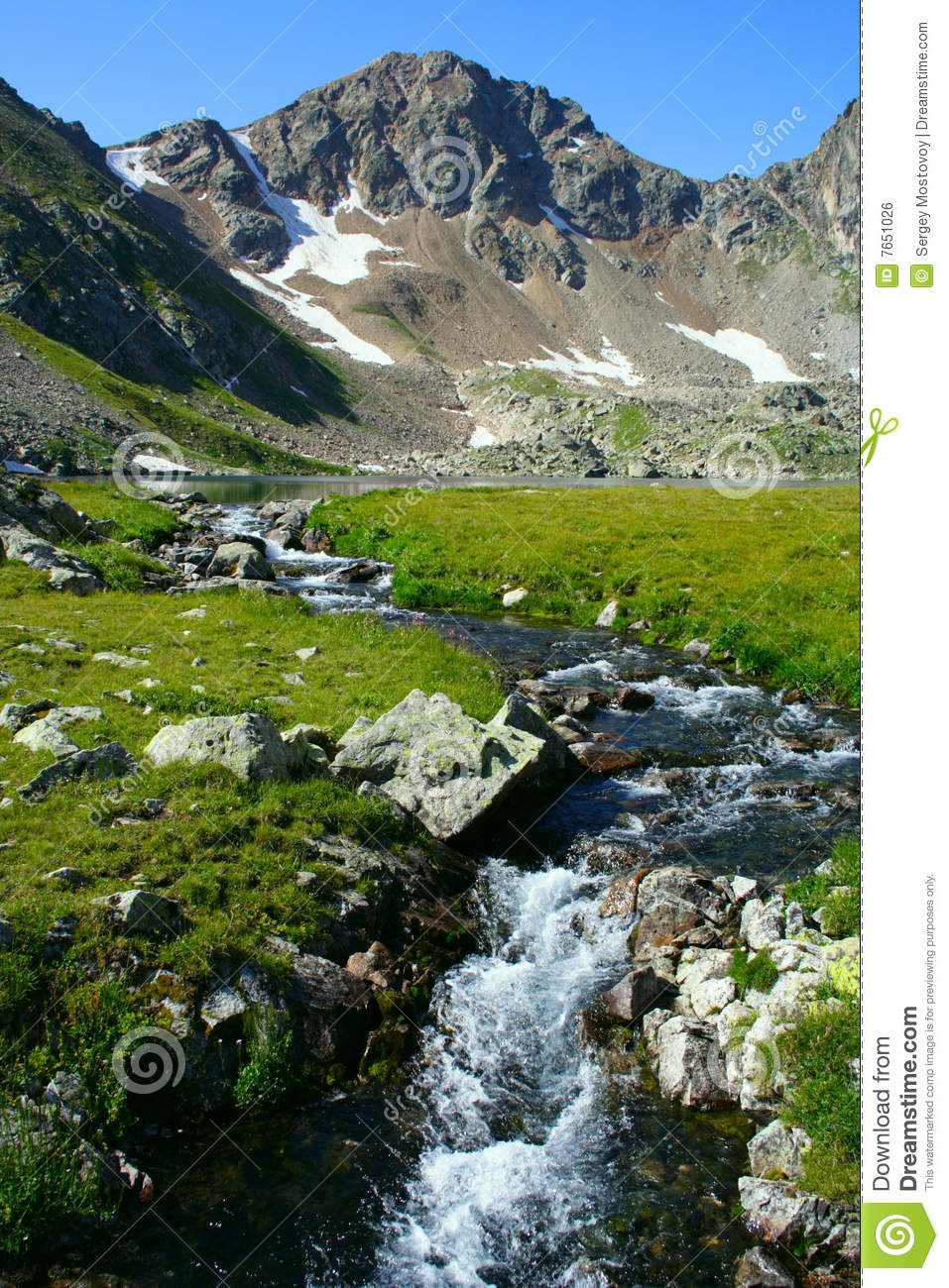 Mountain River Source Royalty Free Stock Image Image