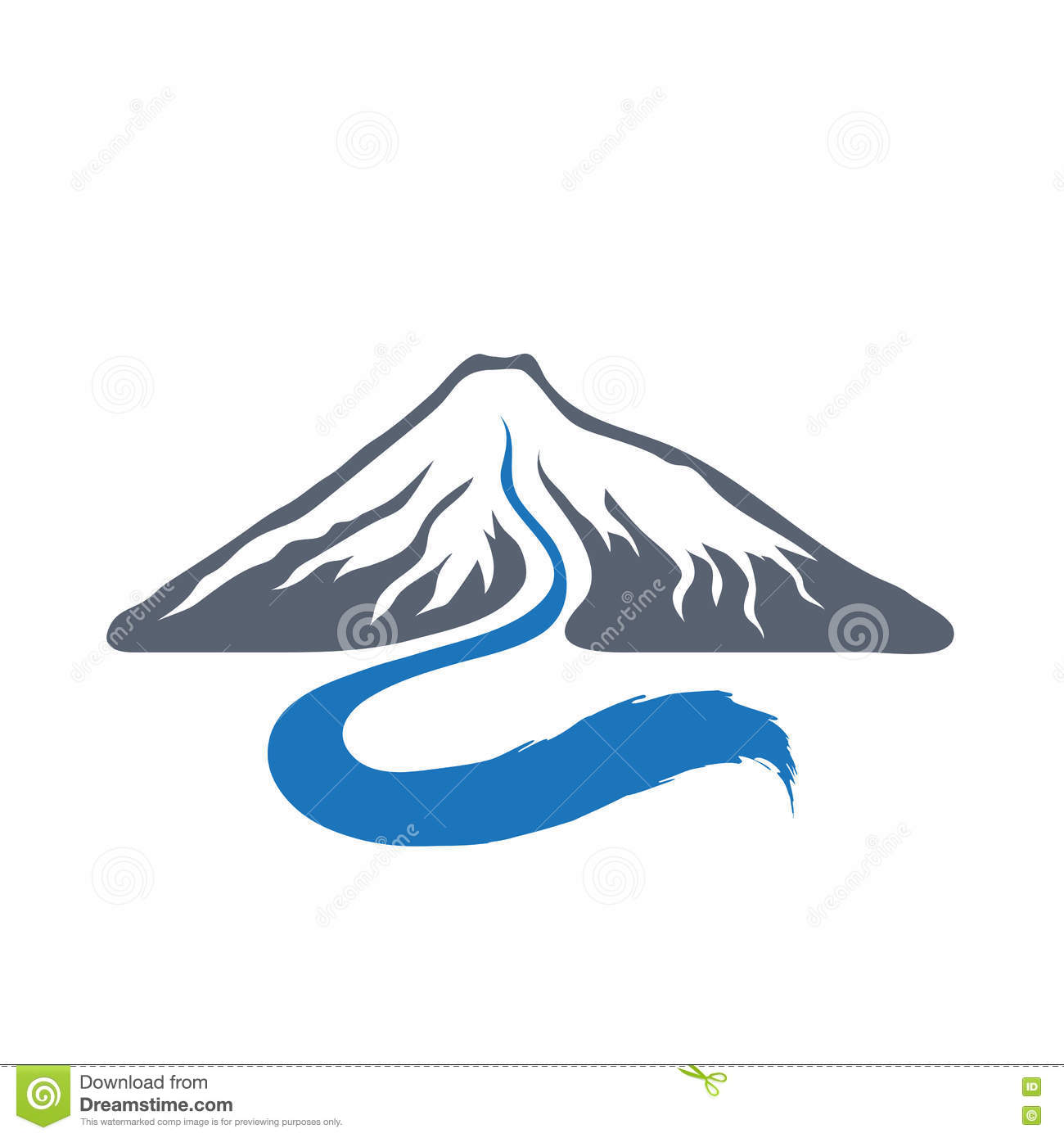 Mountain River, Vector Logo Illustration. Stock Vector - Image ...