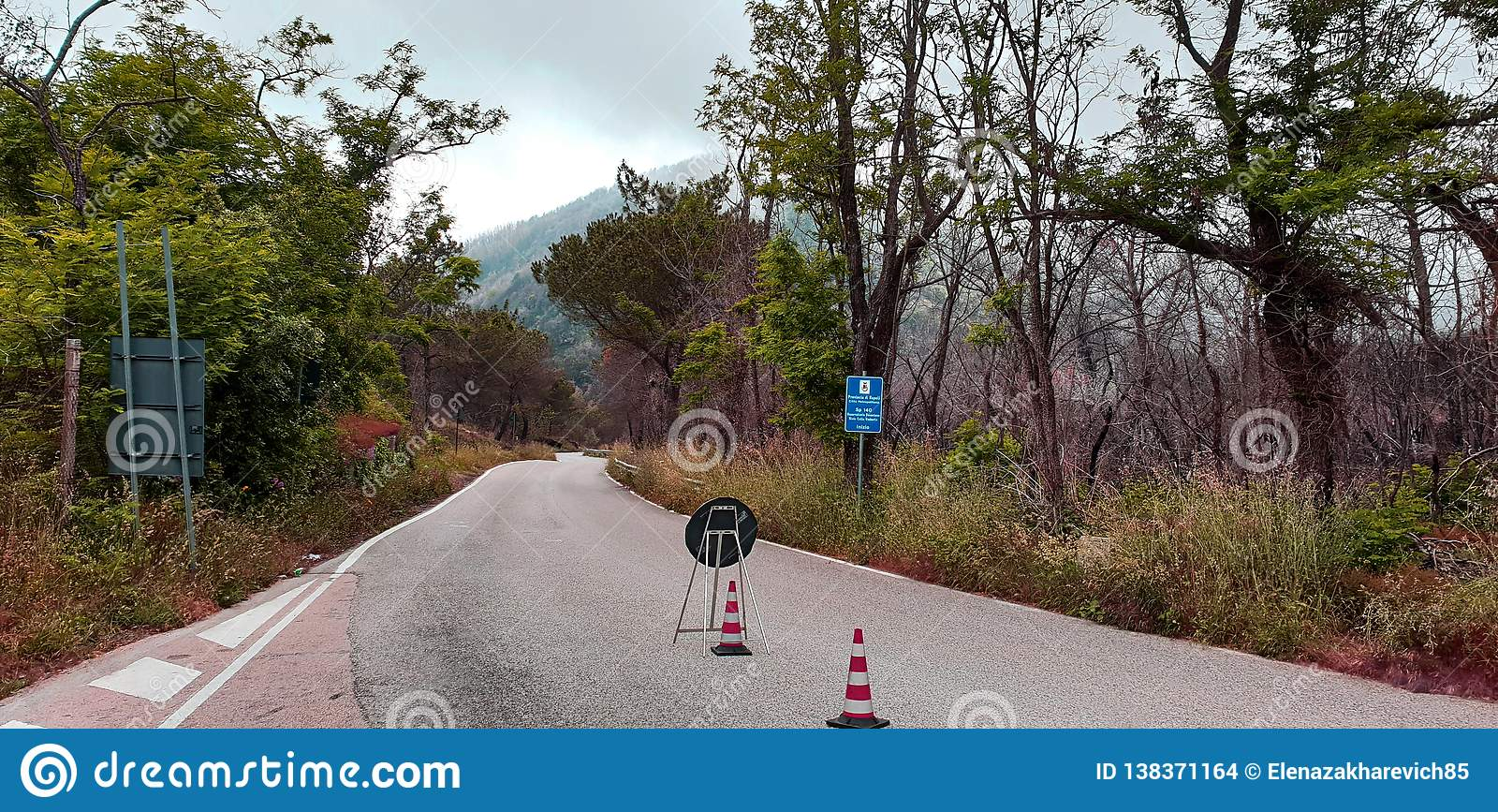 Mountain road repair