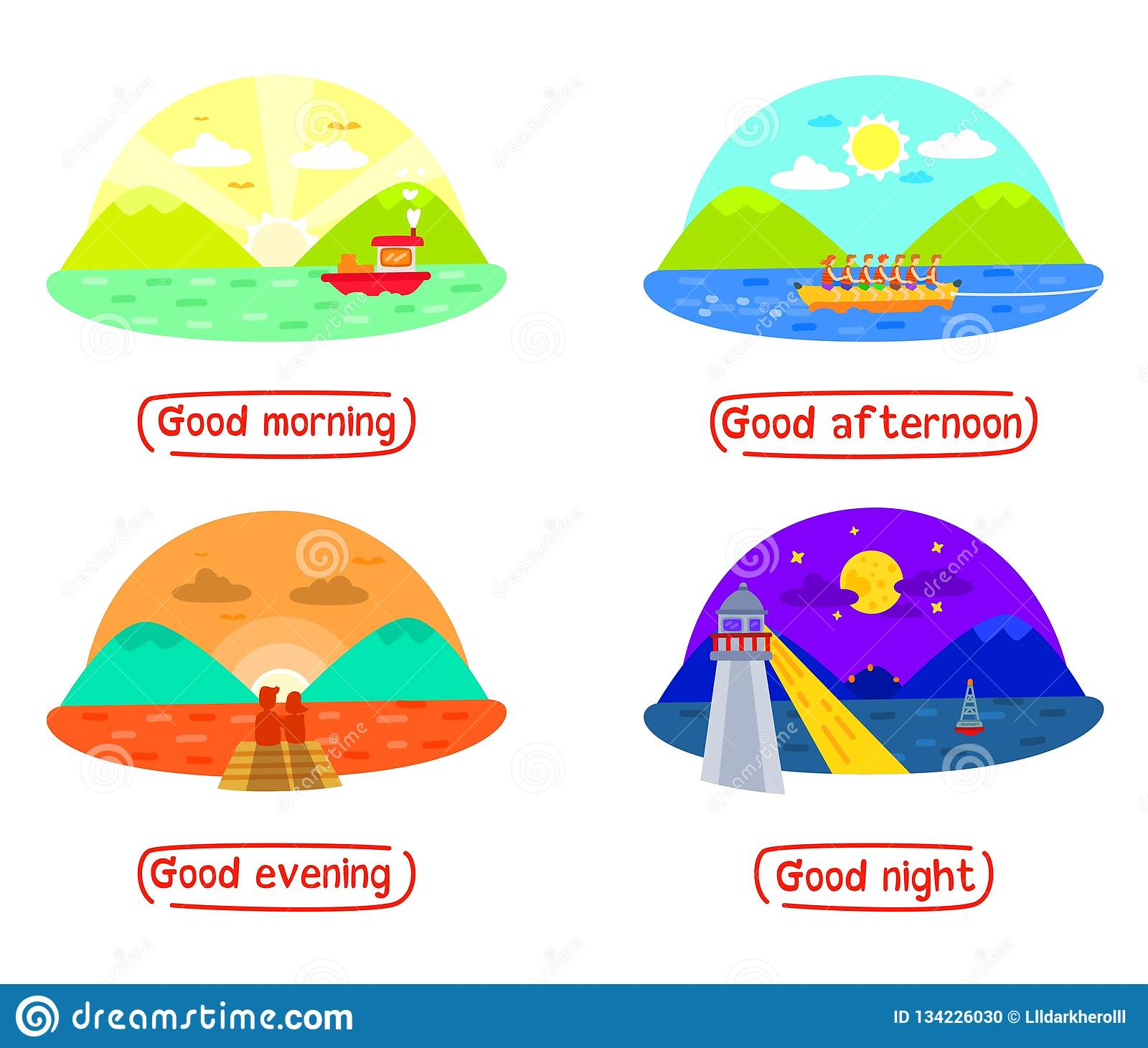 Lovely Afternoon Clip Art